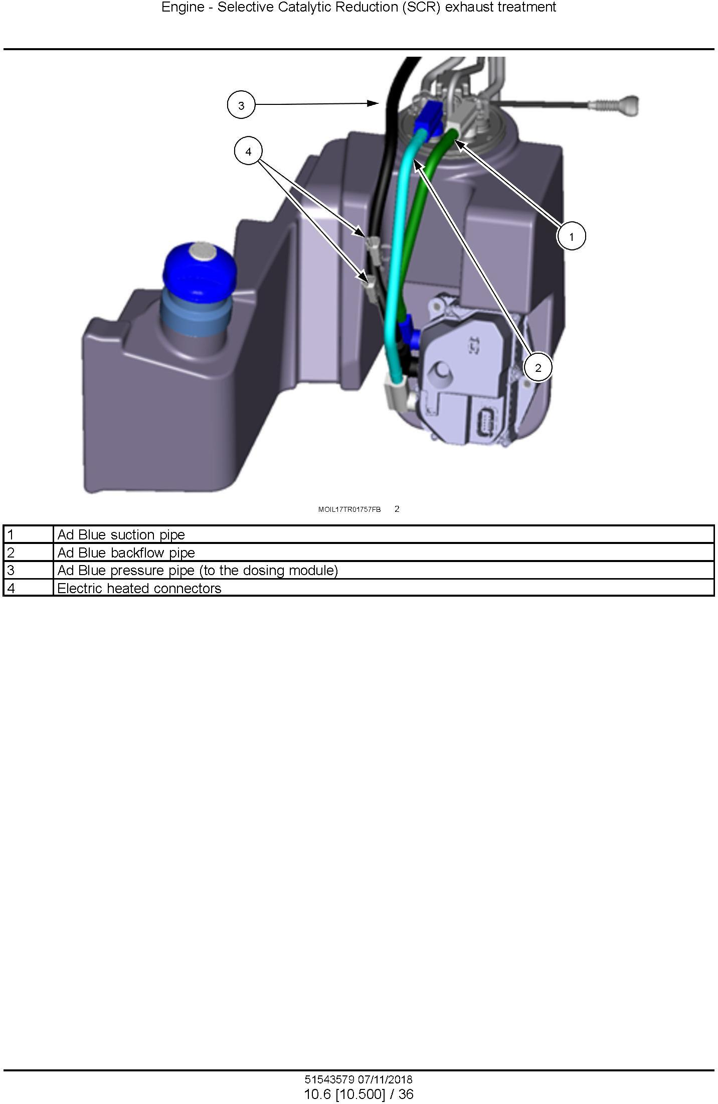 New Holland T5.90, T5.100, T5.110, T5.120 Tier 4B (final) Tractor Service Manual (North America) - 2
