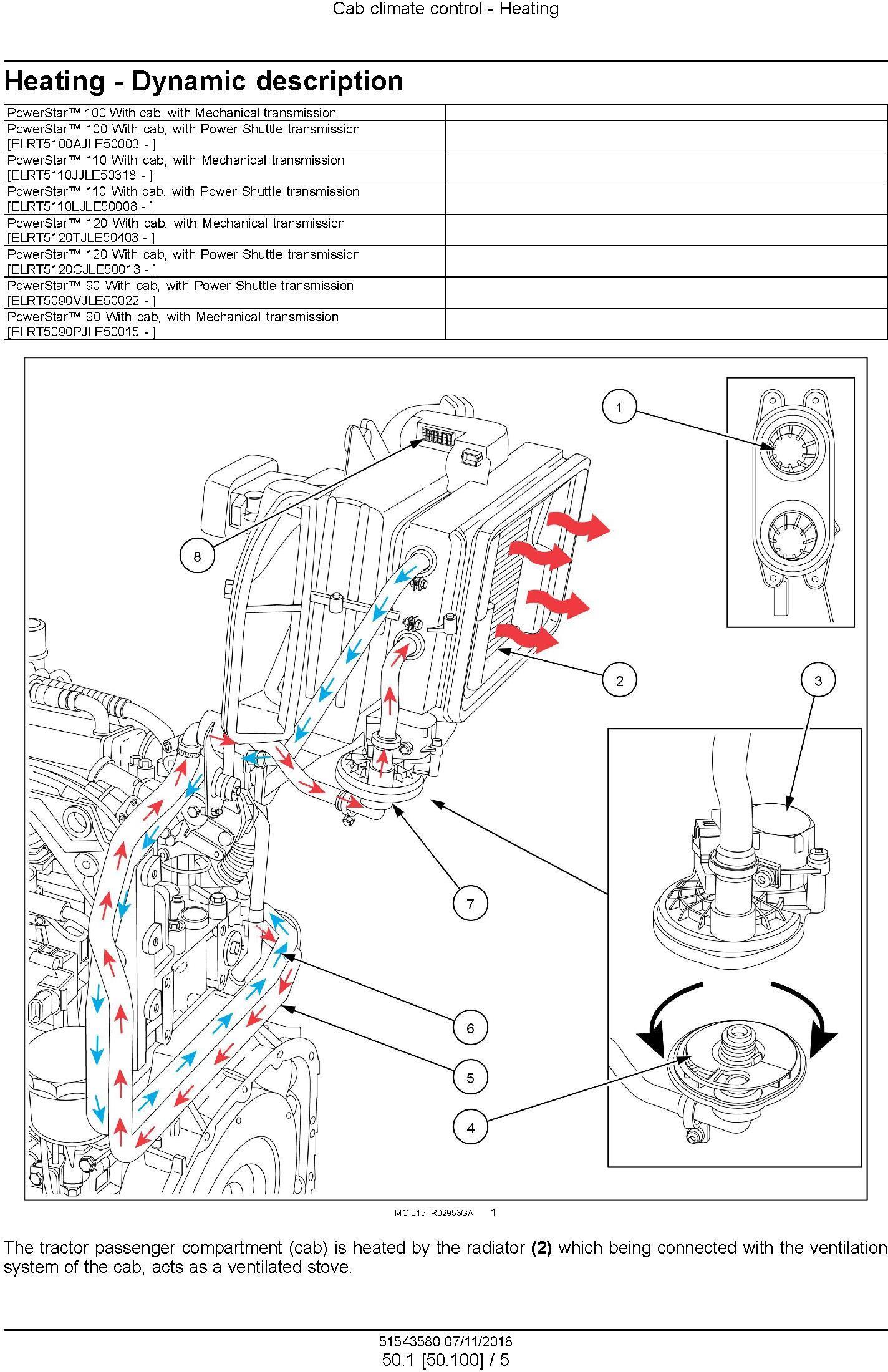 New Holland Powerstar 90 / 100 /110 / 120 Tier 4B final Tractor Service Manual (Nortrh America) - 3
