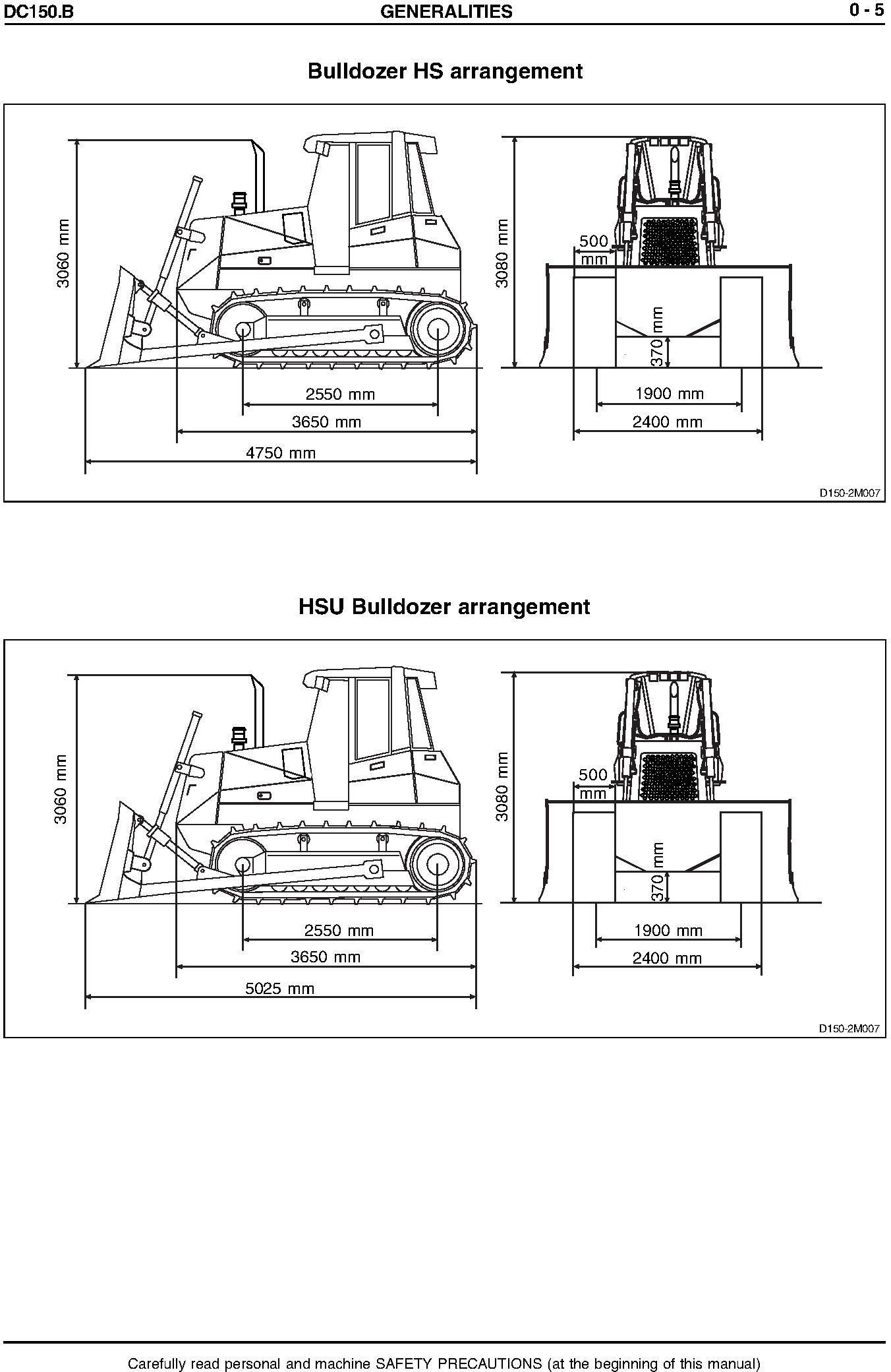 New Holland NH DC150.B Tier 2 Crawler Tractor Service Manual - 1
