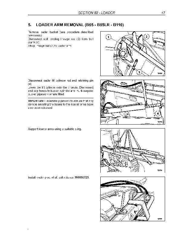 New Holland B95, B95TC, B95LR, B110, B115 Backhoe Loader Service Manual - 2