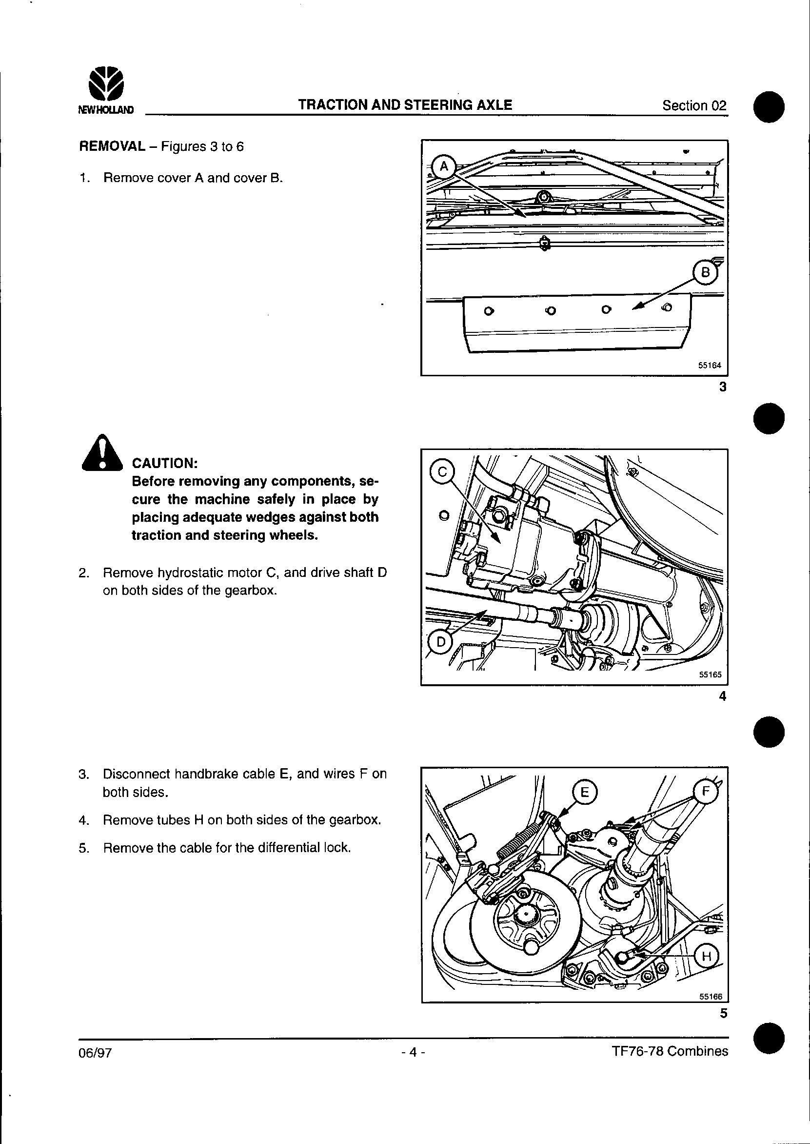 New Holland TF76, TF78 Combine Service Manual - 1