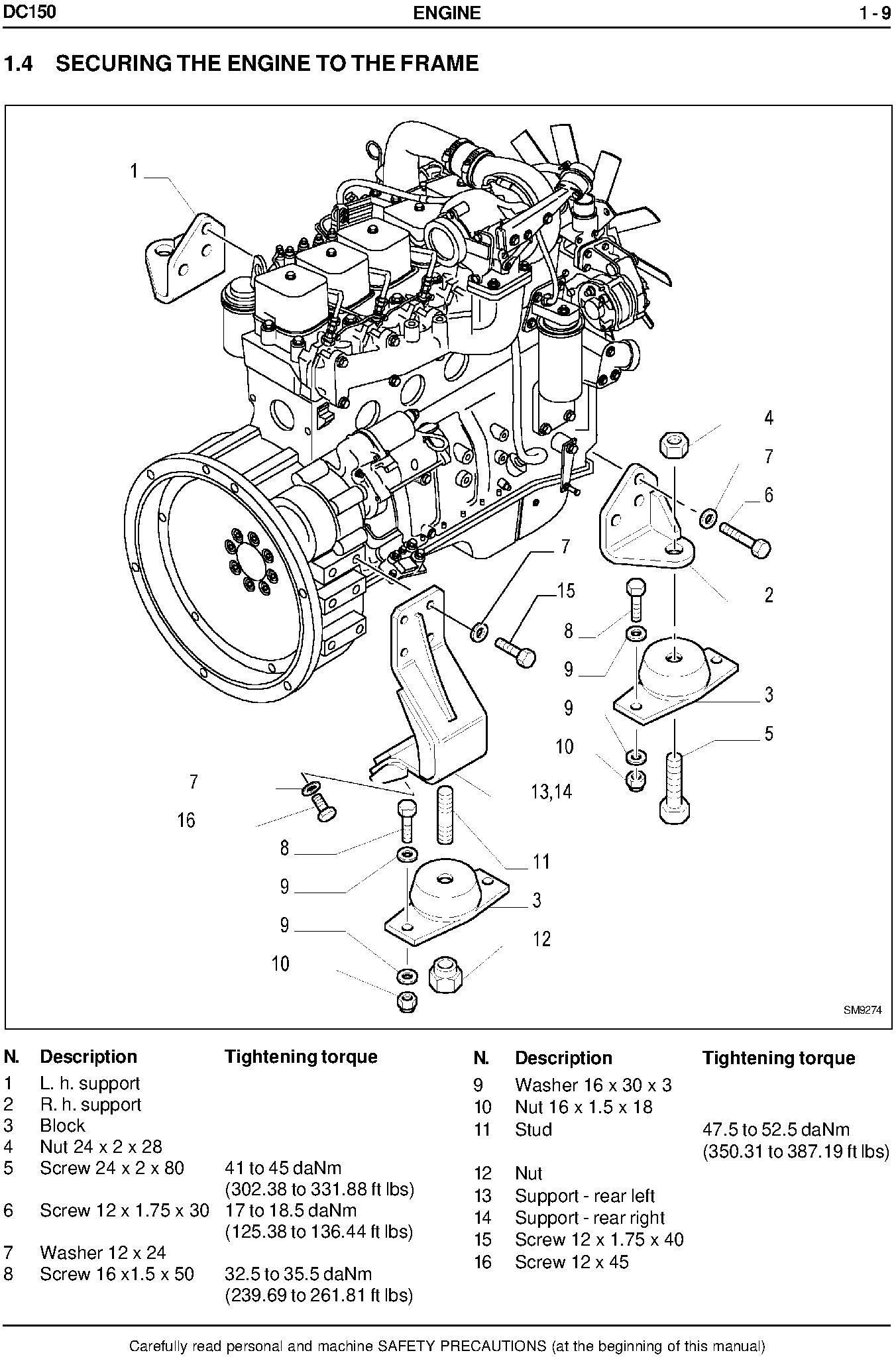 New Holland DC150, DC150LGP Crawler Dozer Service Manual - 3