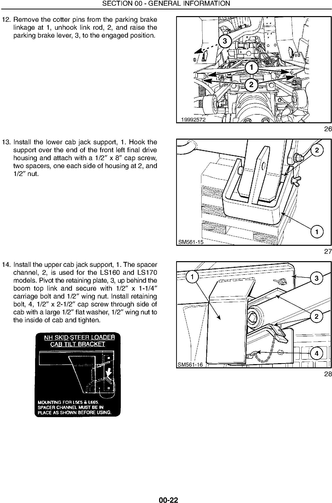 New Holland LS160, LS170 Skid Steer Loader Service Manual - 1