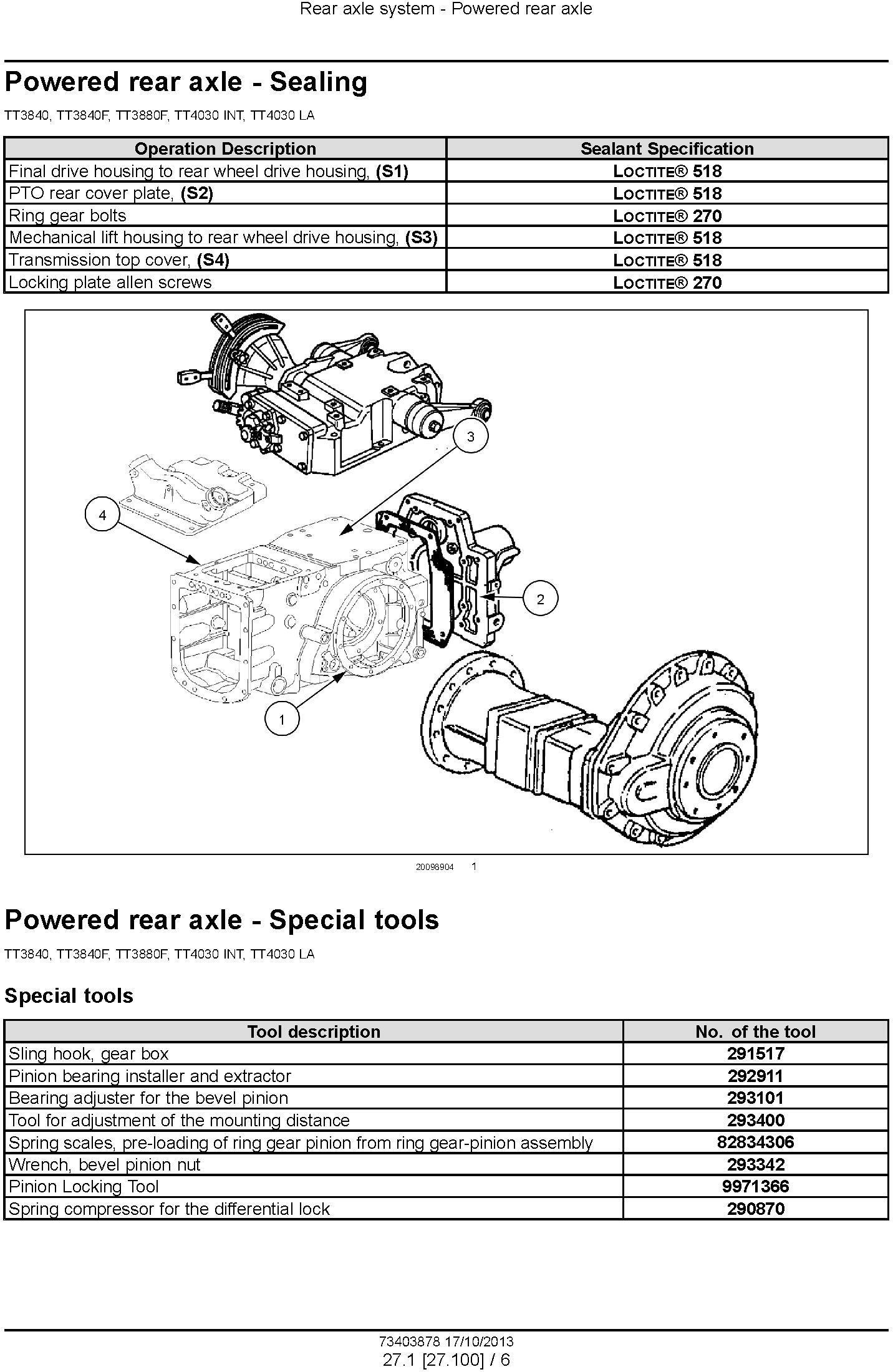 New Holland TT3840, TT3840F, TT3880F, TT4030 Tractors Service Manual - 3