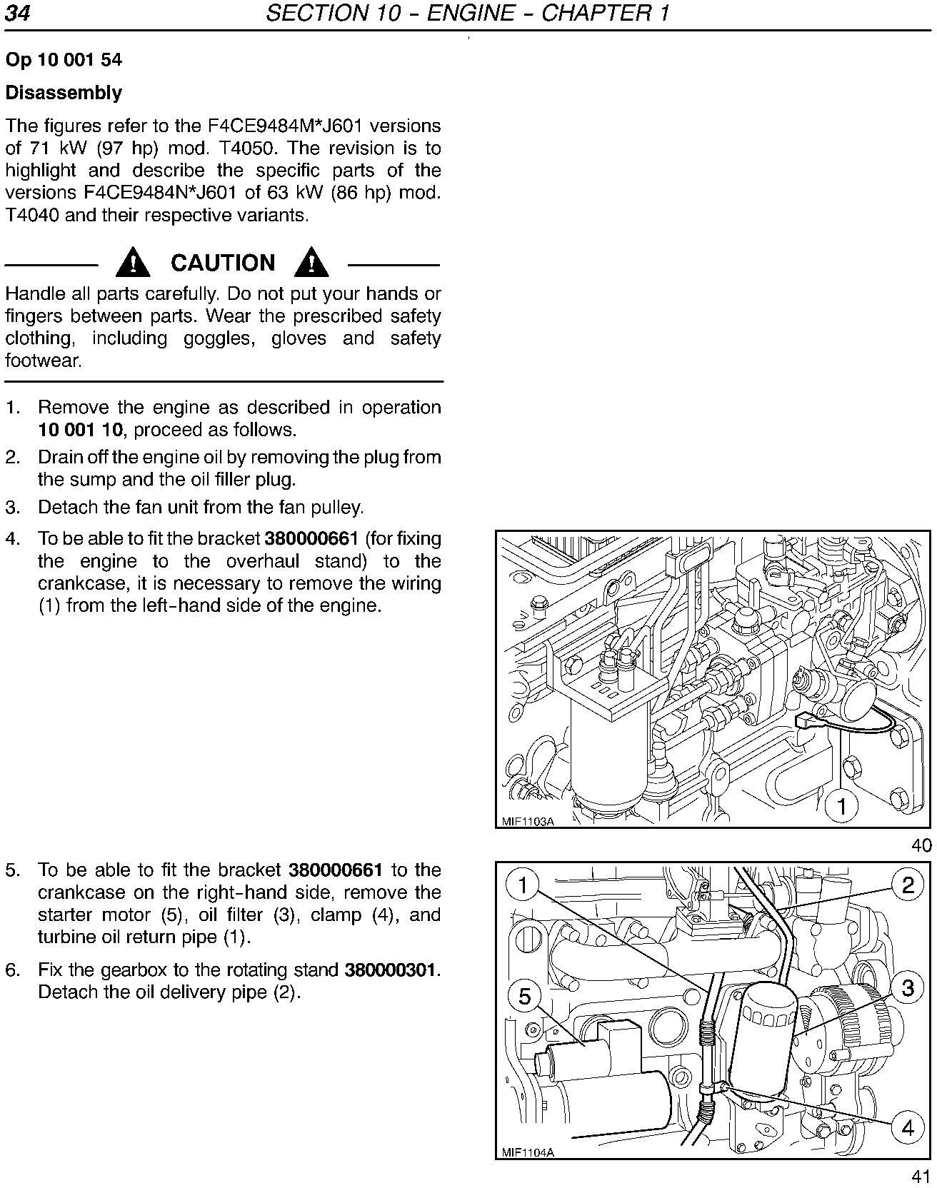 New Holland T4020, T4030, T4040, T4050 Deluxe/SuperSteer Service Manual - 1