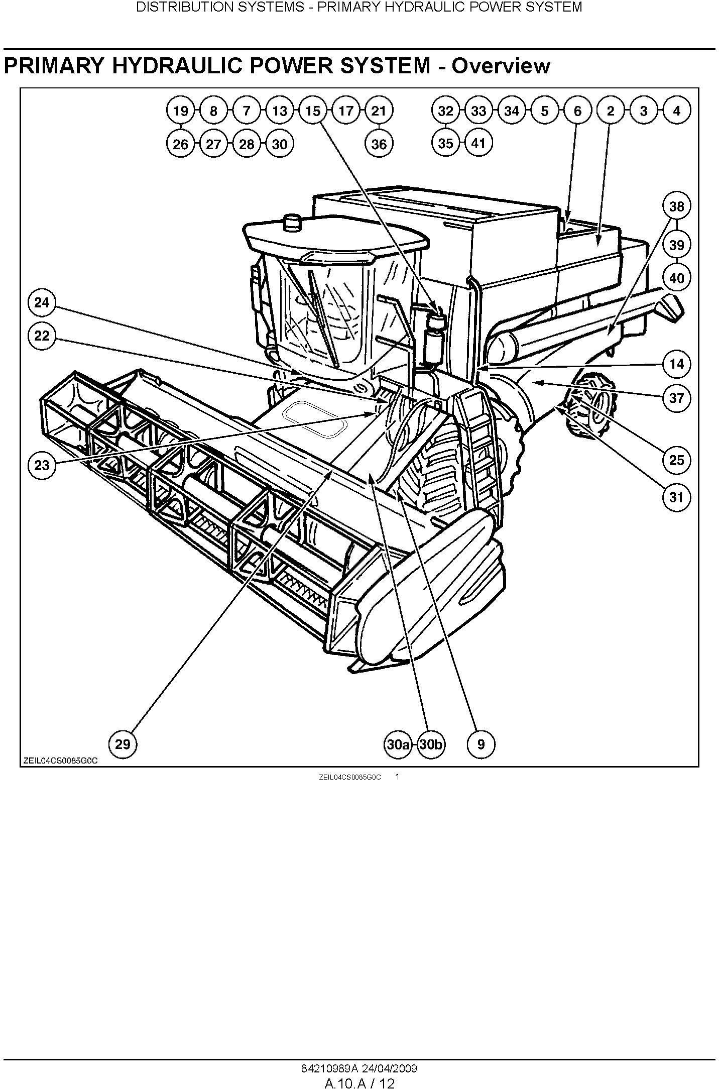 New Holland CSX7040, CSX7050, CSX7060, CSX7070, CSX7080 Combine Service Manual - 1