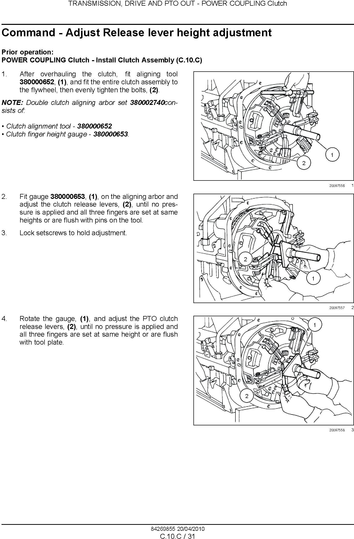 New Holland Workmaster 75, Workmaster 65 Tractor Complete Service Manual - 2