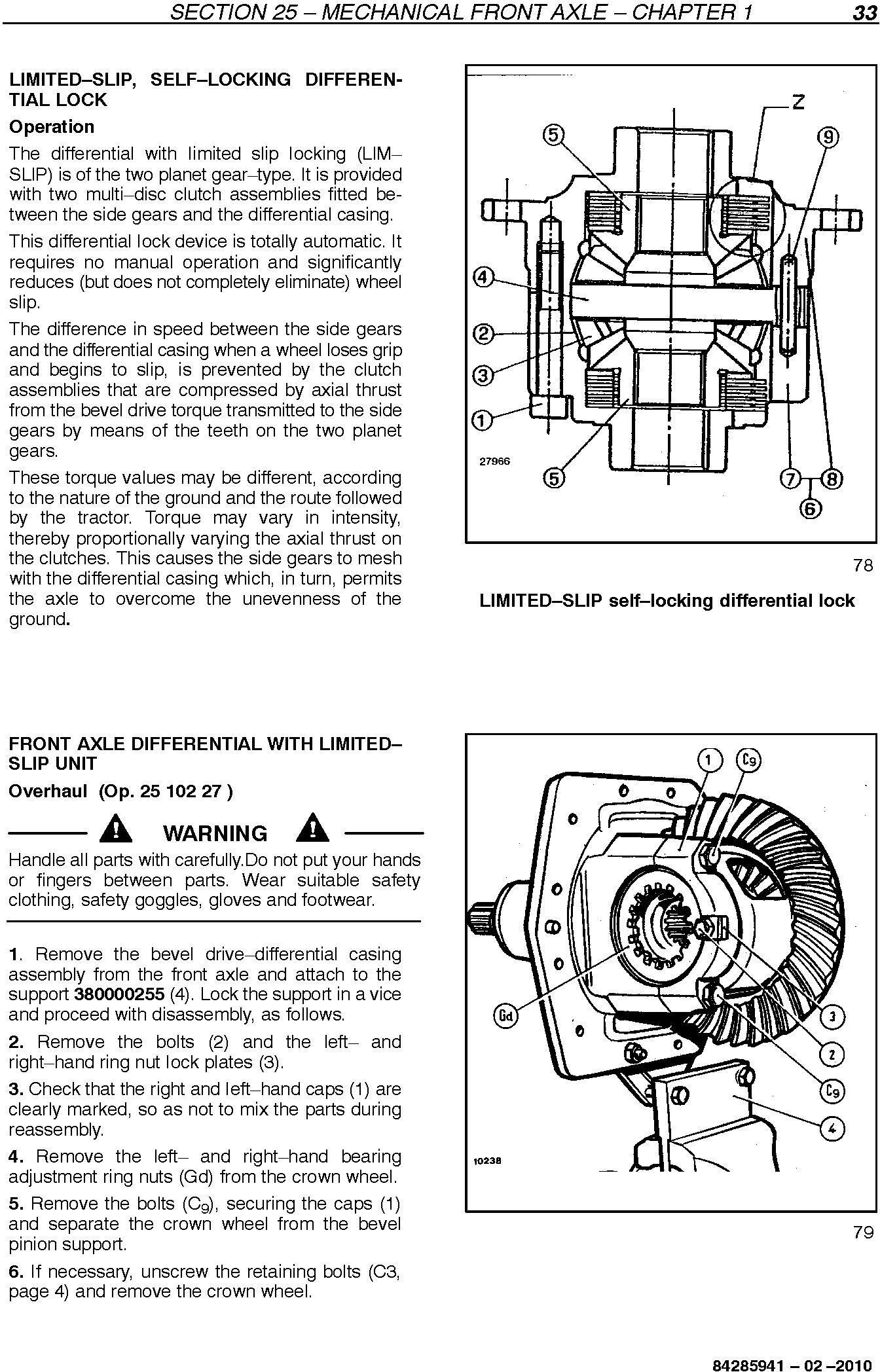 New Holland TD65F, TD75F, TD85F Tractors Service Manual - 3