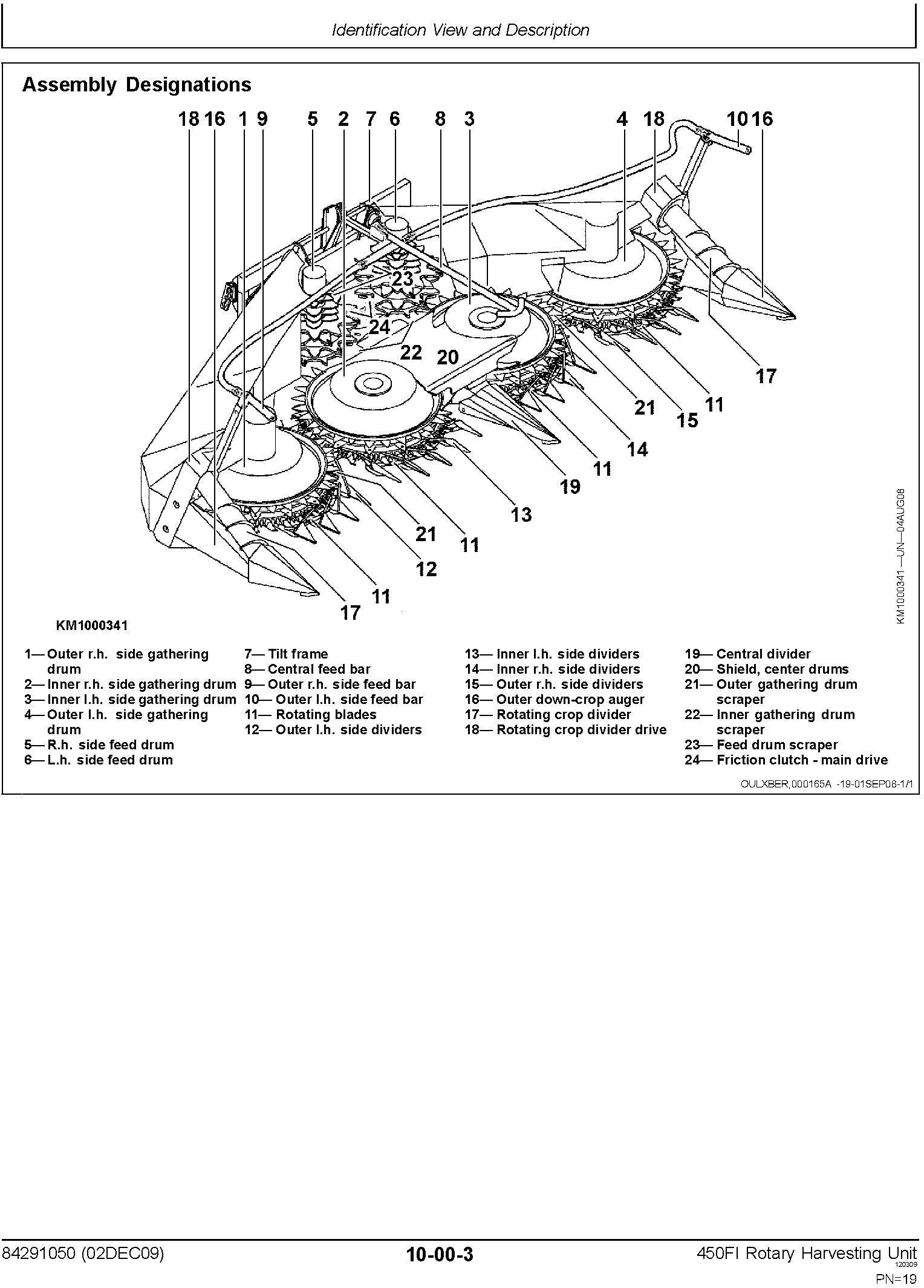 New Holland 450FI Rotary Harvesting Headers Service Manual - 1