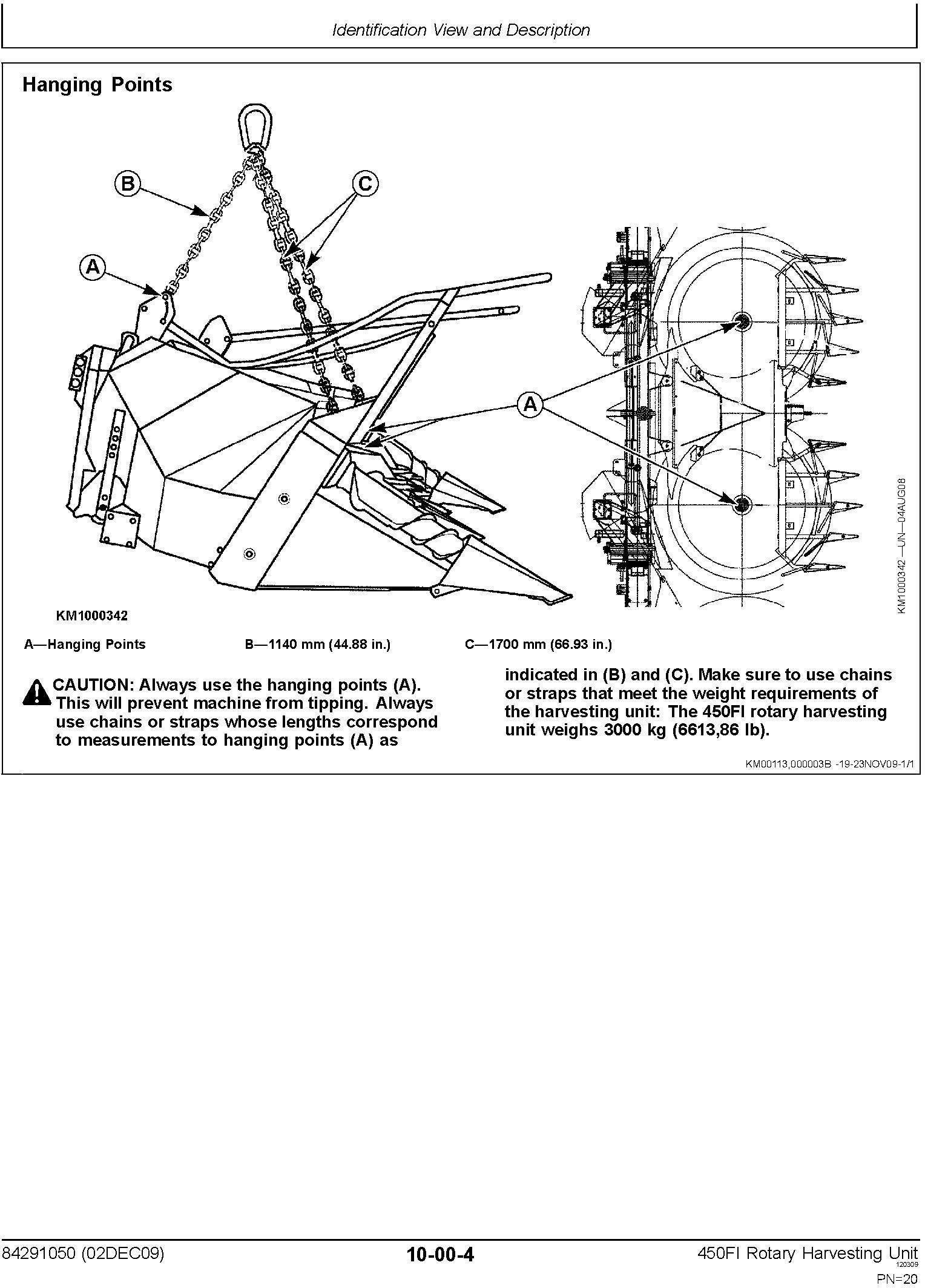New Holland 450FI Rotary Harvesting Headers Service Manual - 2