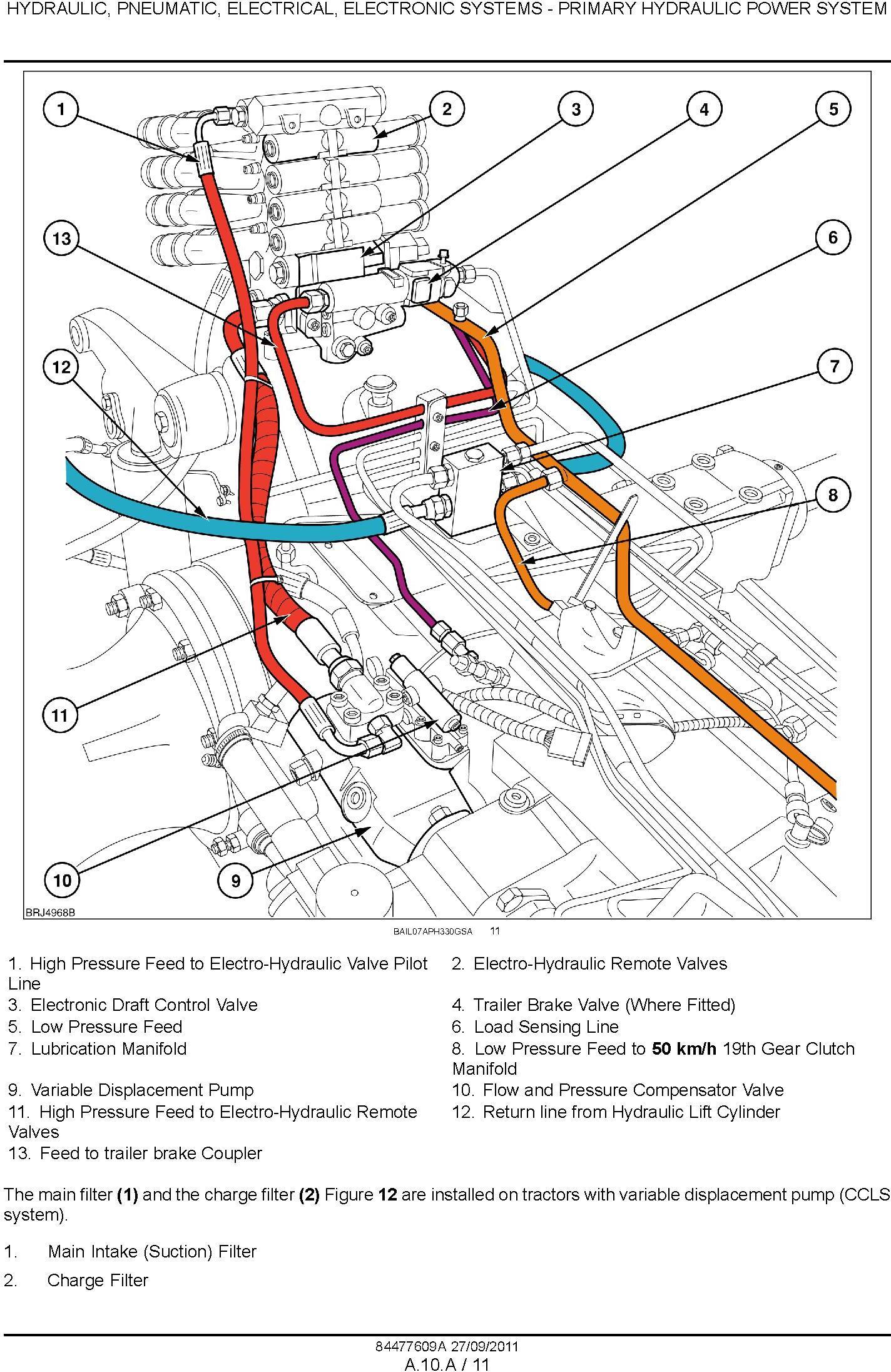 New Holland T7.170, T7.185, T7.200, T7.210 Tractors Service Manual - 1