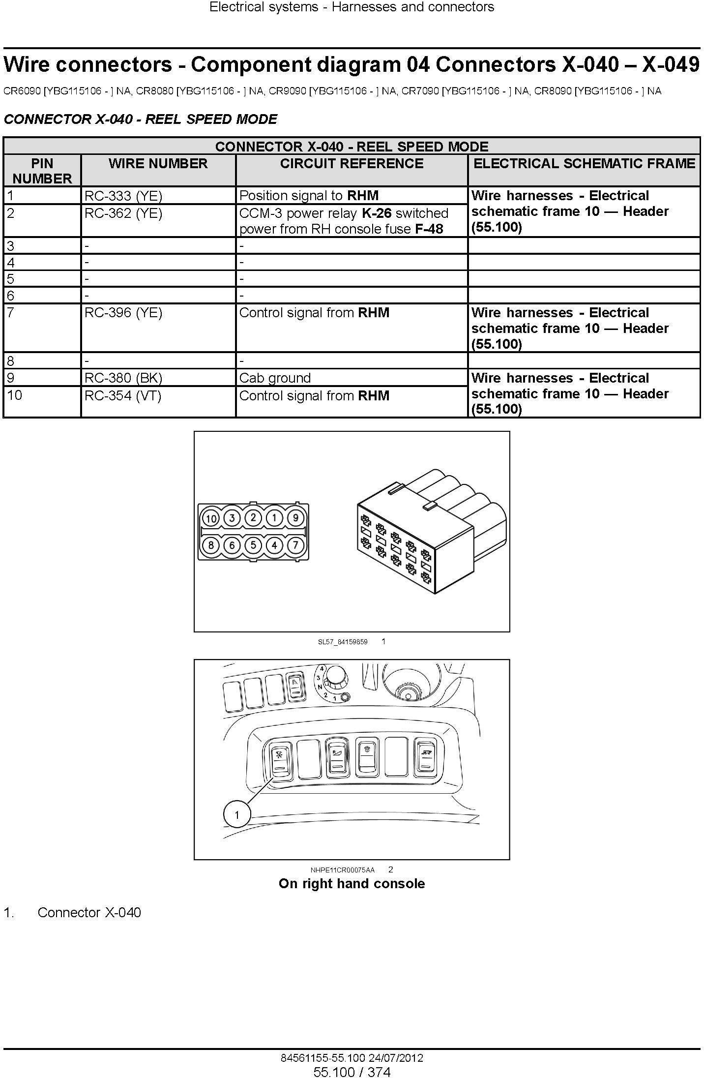 New Holland CR6090, CR7090, CR8080, CR8090, CR9090 Tier 4A Combine Service Manual - 3