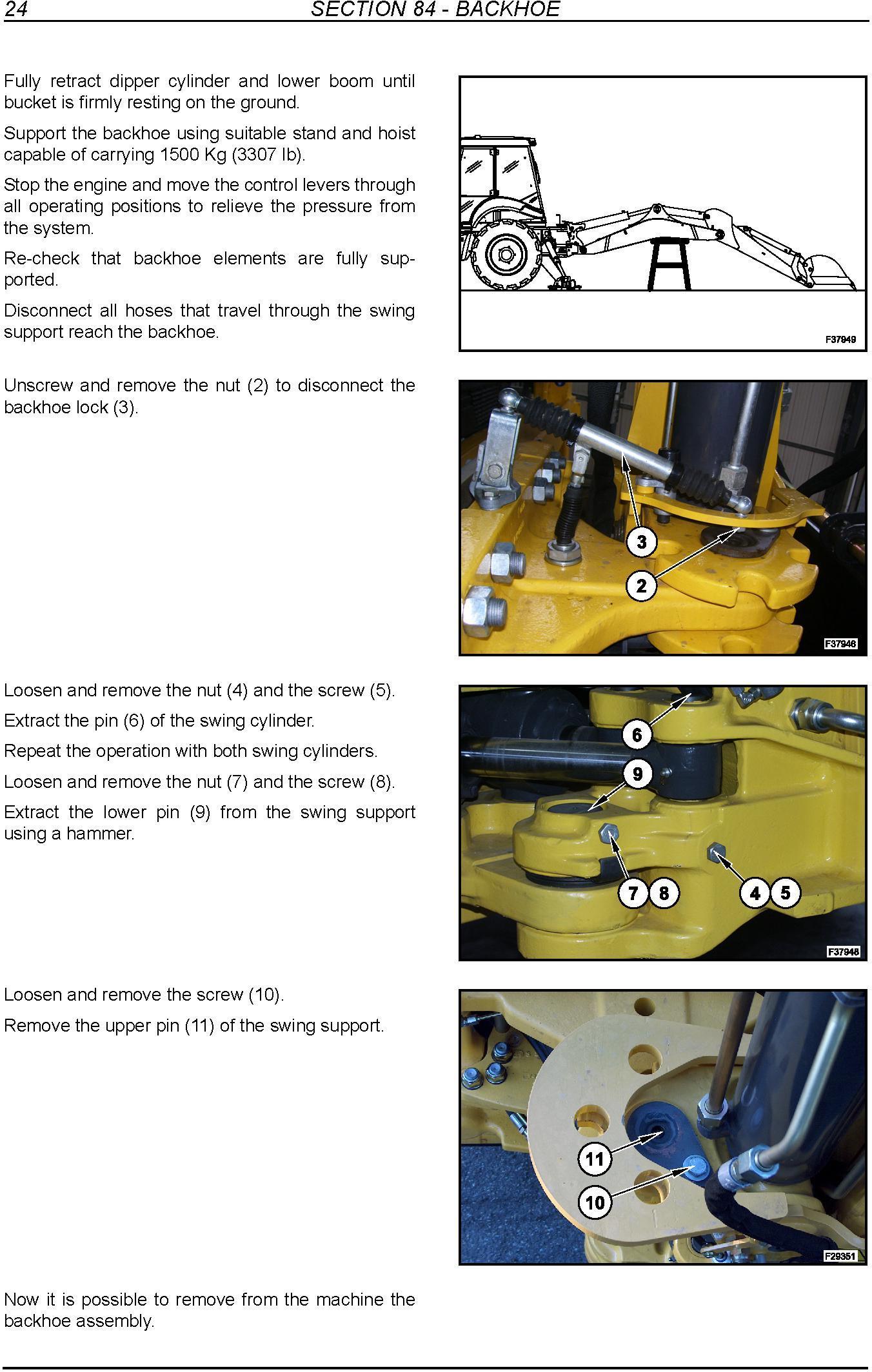 New Holland B110C, B95C, B95CLR, B95CTC Backhoe Loader Tier 4 Complete Service Manual - 1