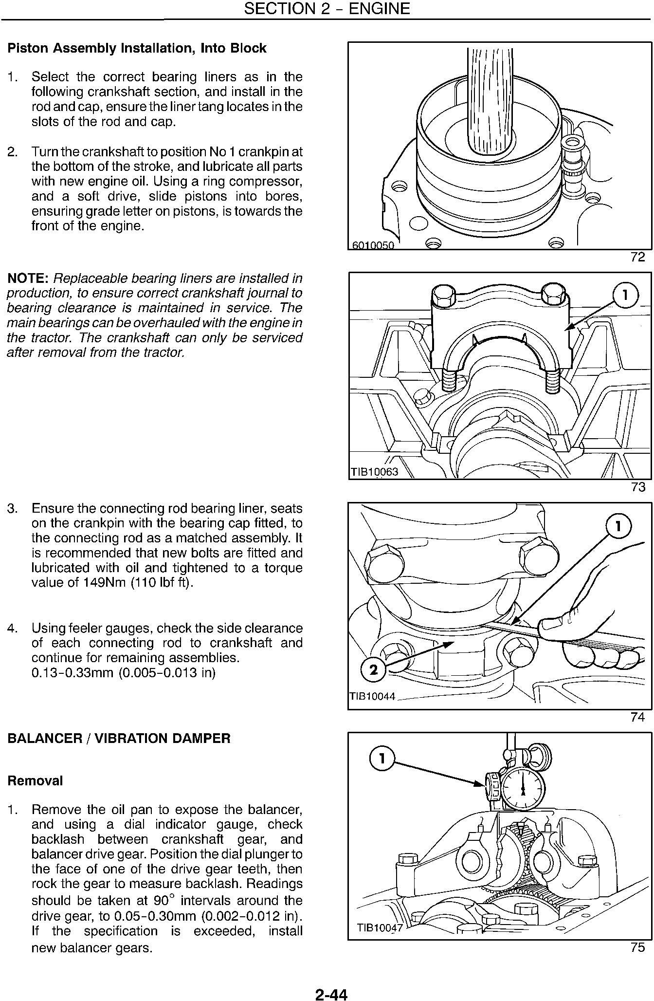New Holland TS90, TS100, TS110 Tractor Complete Service Manual - 3