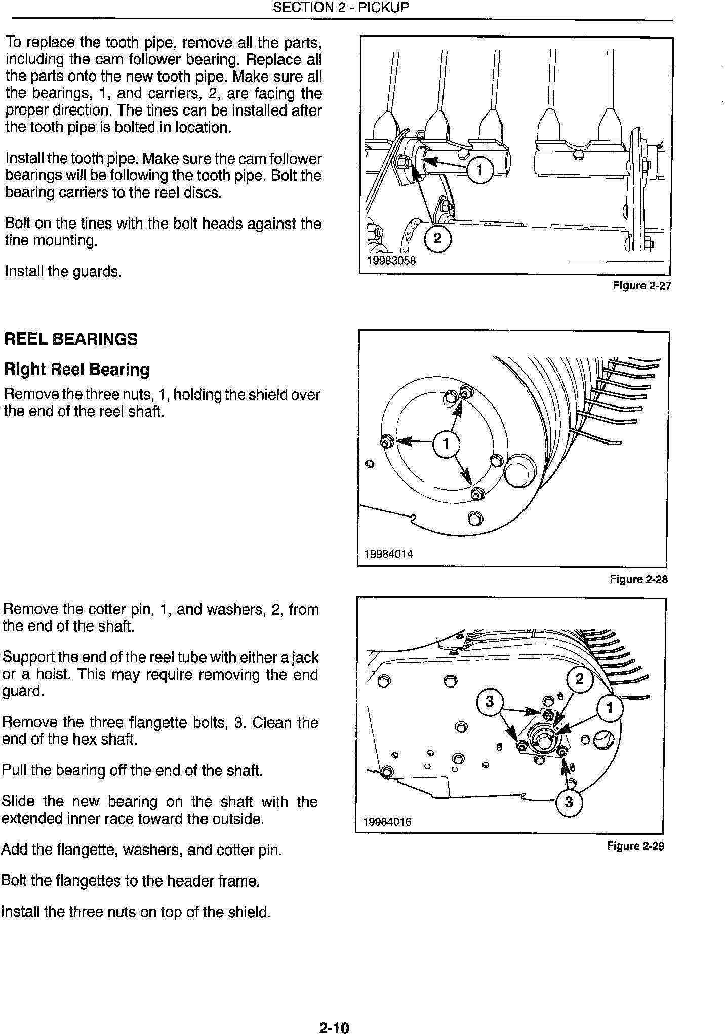 New Holland 345w, 355w, 365w Header Service Manual - 2