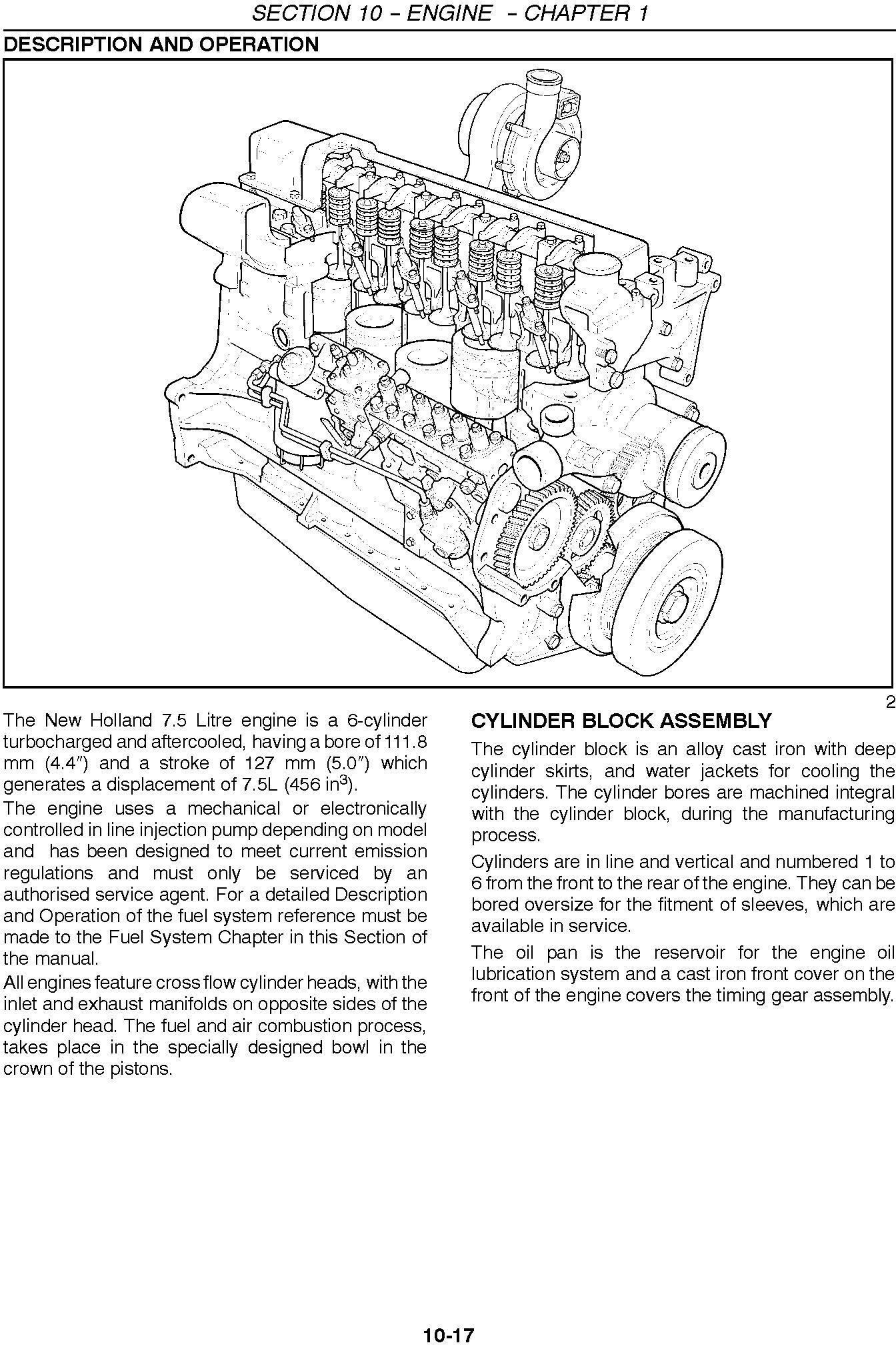 New Holland CX720, CX740, CX760, CX780, CX820, CX840, CX860, CX880 Combine Service Manual - 1