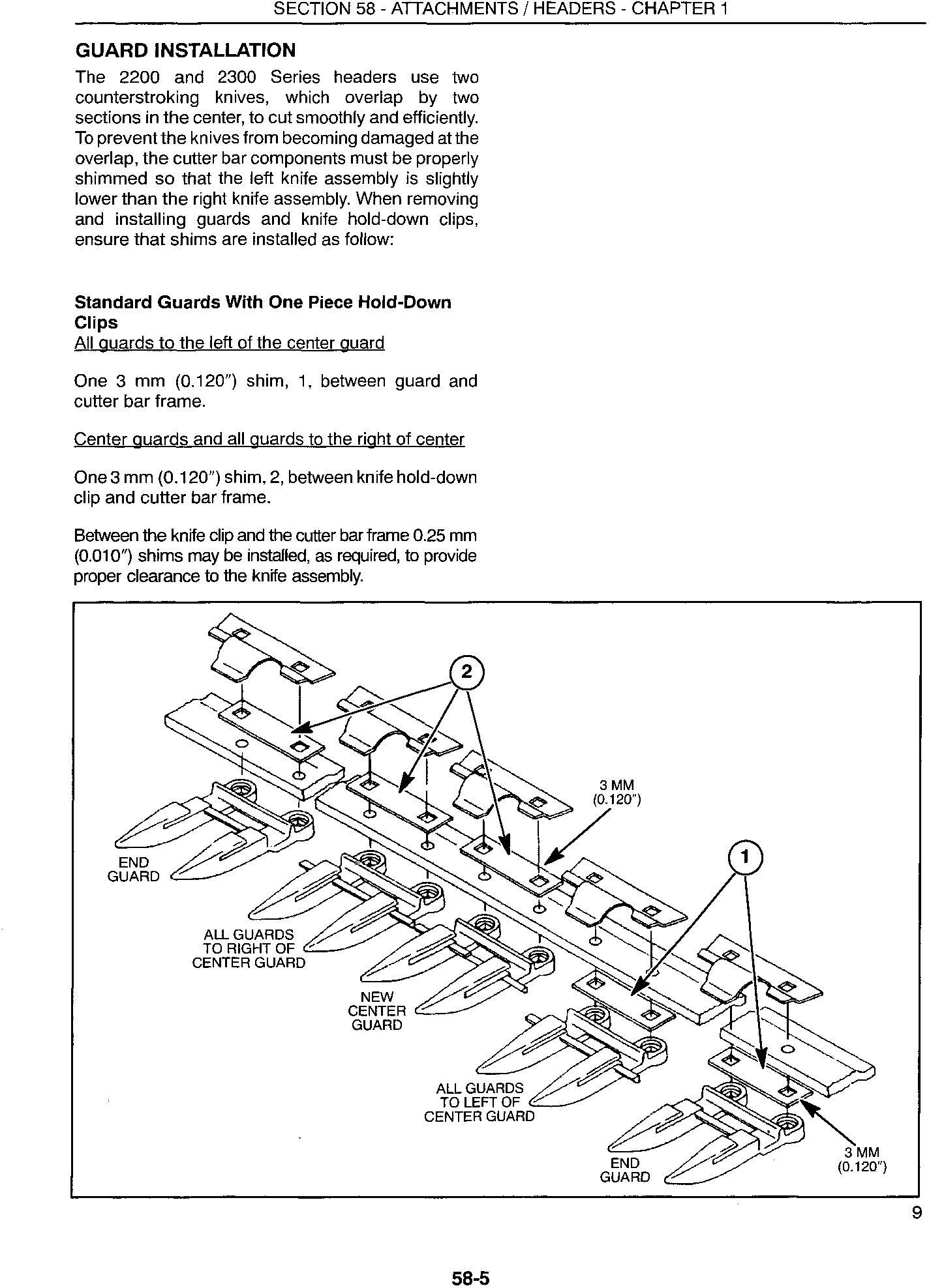 New Holland 2212, 2214, 2216, 2218, 2322, 2324, 2326, 2328 Swather Heads Service Manual - 1