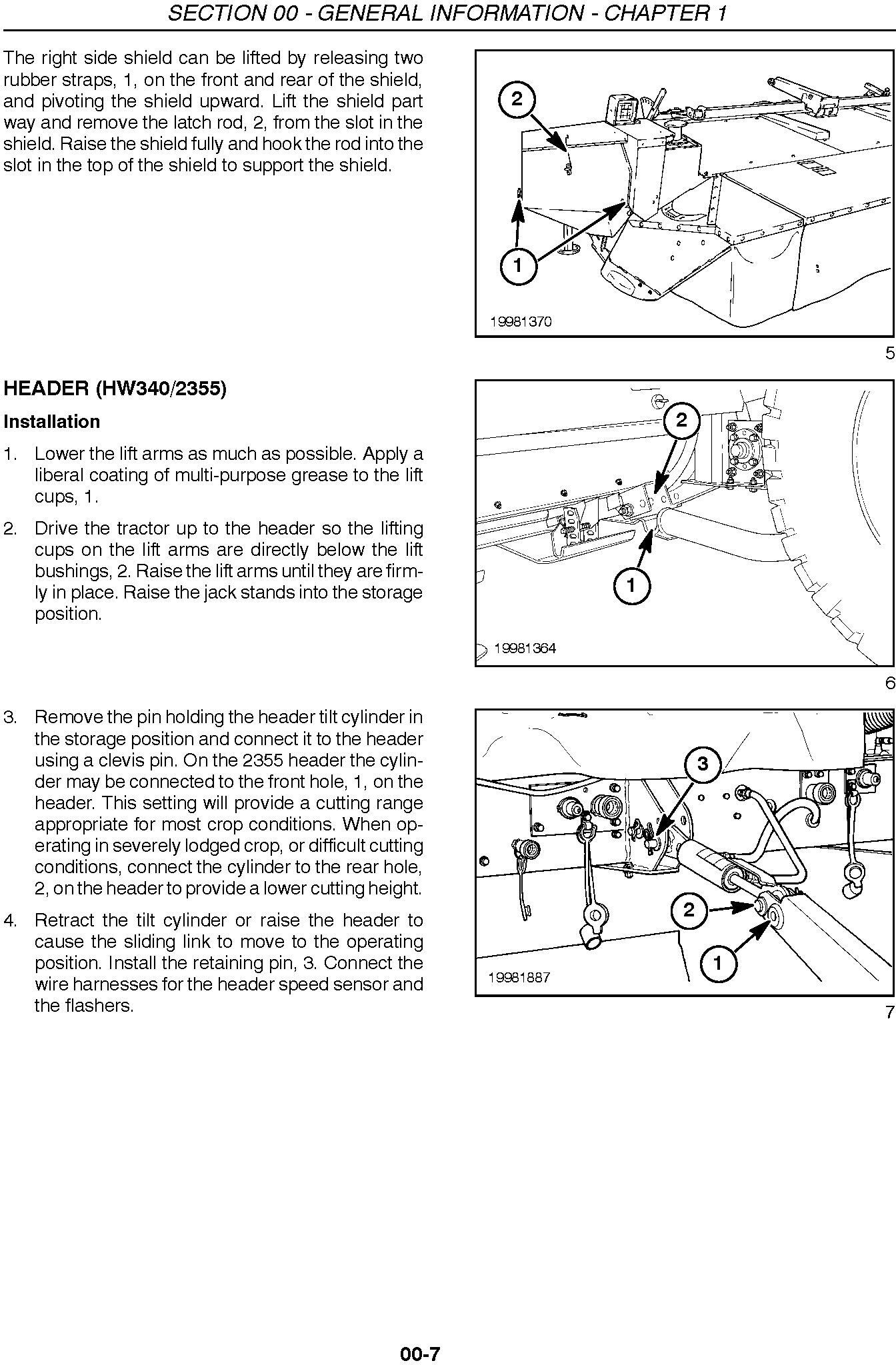 New Holland 2355 and 2358 Disc Auger Header Service Manual - 1