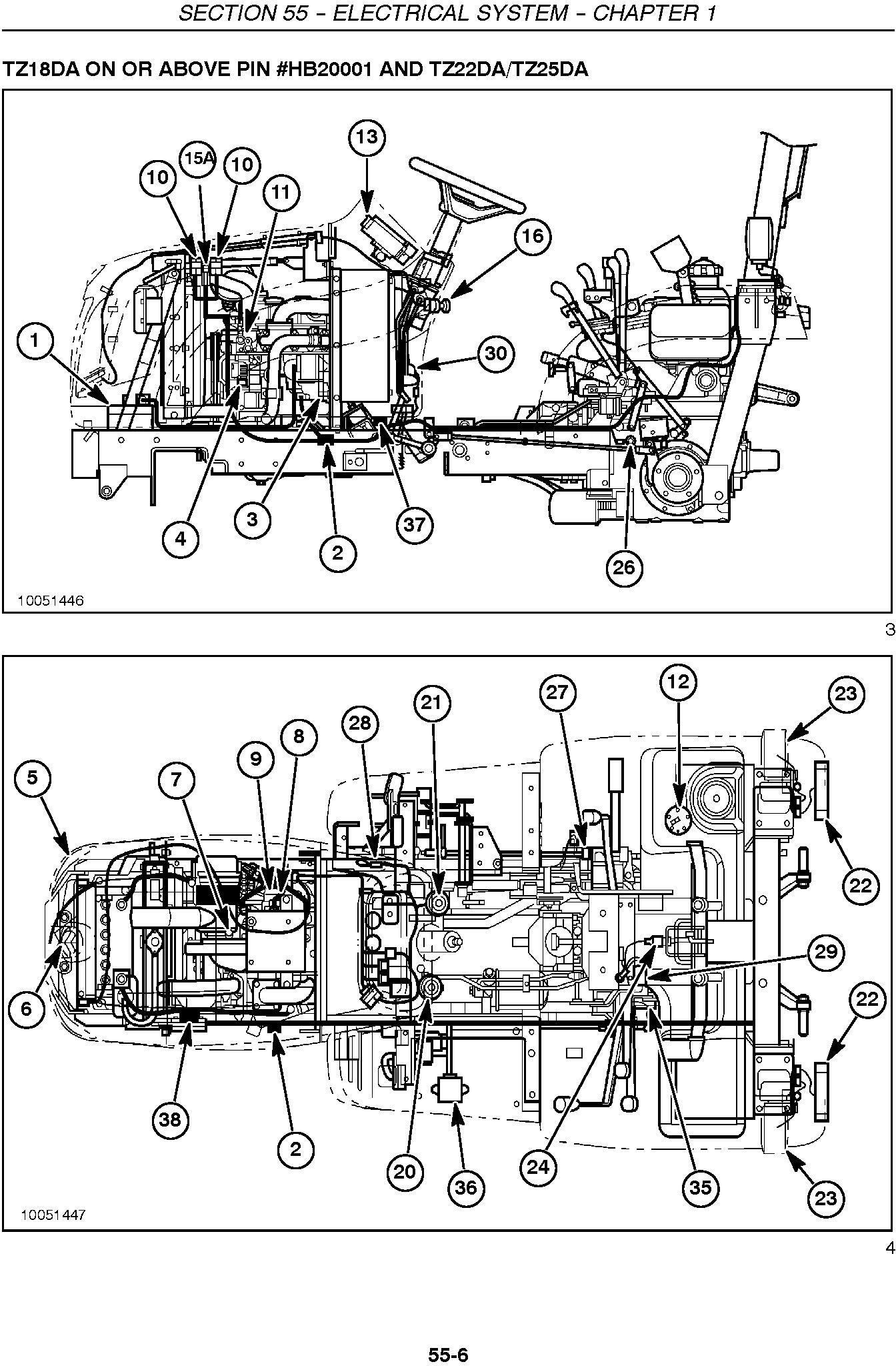 New Holland TZ18DA, TZ22DA, TZ24DA, TZ25DA Compact Tractor Complete Service Manual - 2