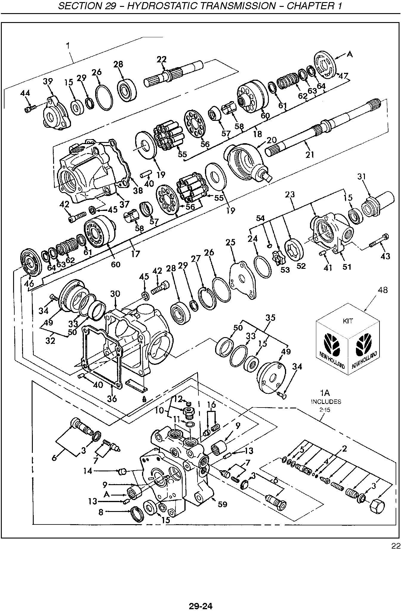 New Holland TC23DA, TC26DA Compact Tractors Complete Service Manual - 2