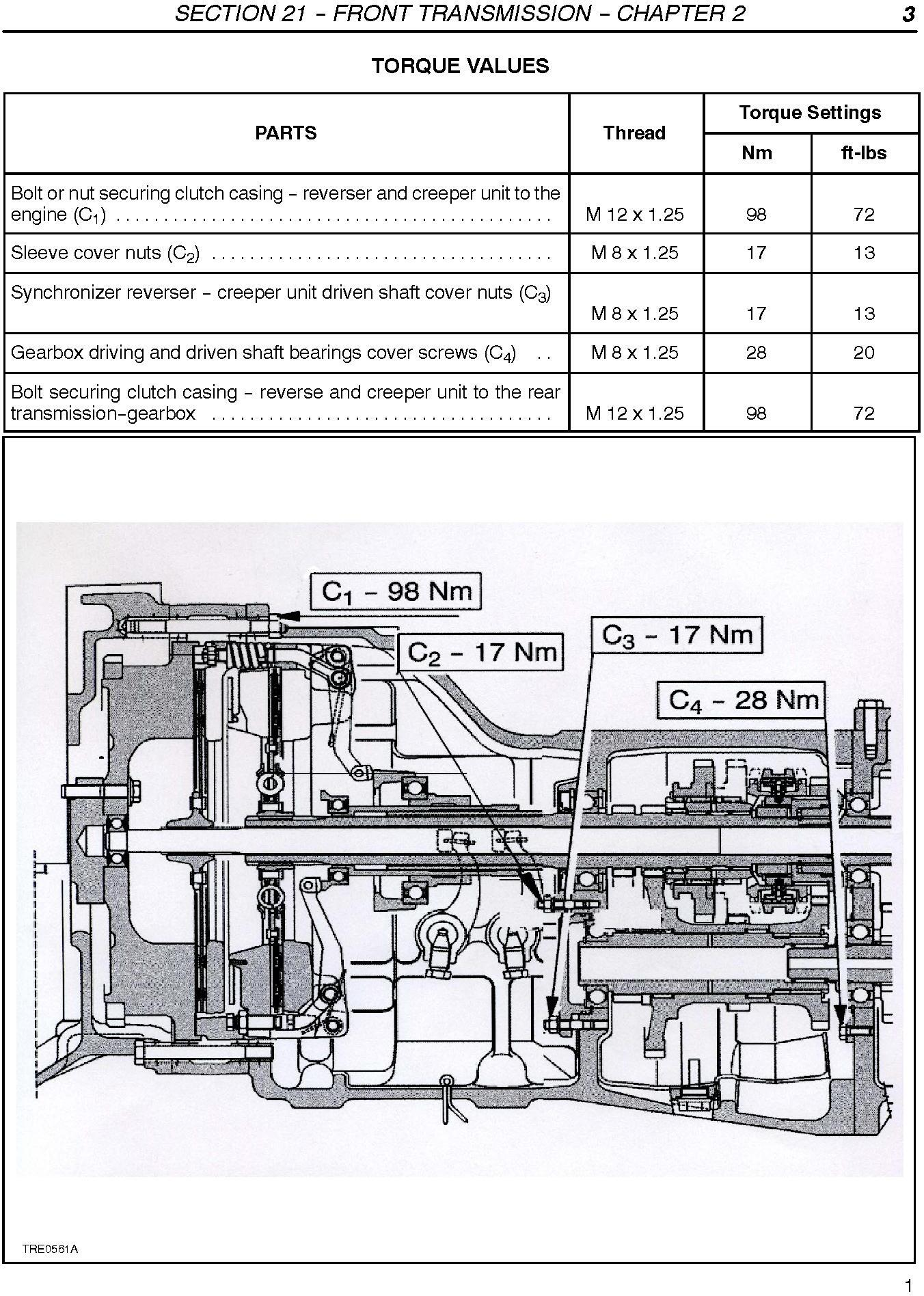 New Holland TD75D TD95D TD95D High Clearance Tractors Complete Service Manual - 3