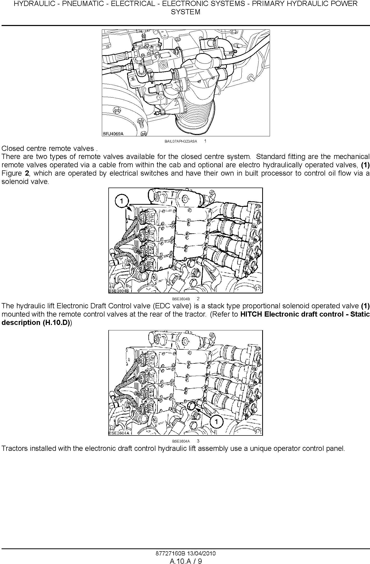 New Holland T6030, T6050, T6070, T6080, T6090 Power Command & Range Command Tractor Service Manual - 1