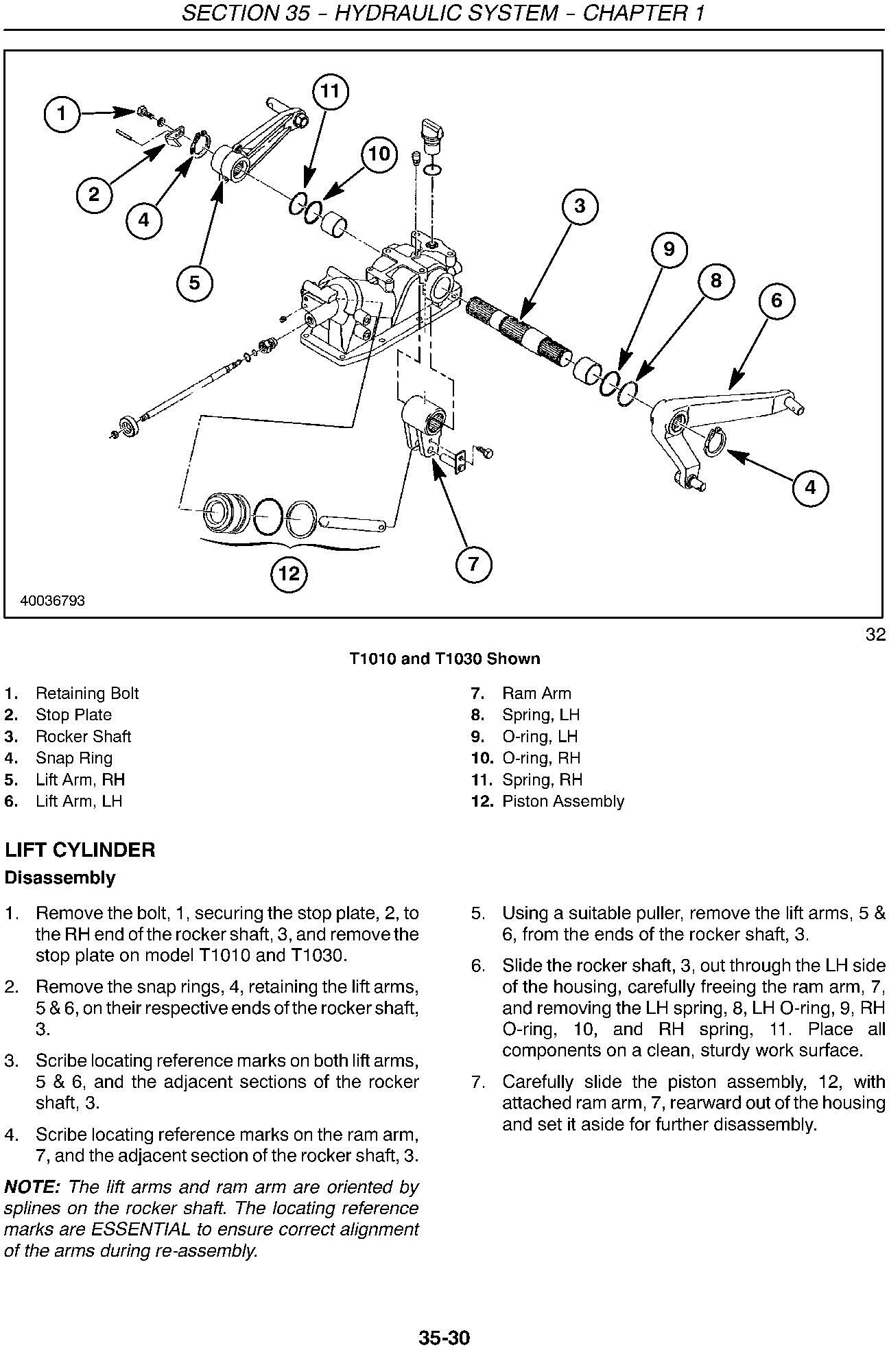 New Holland T1010, T1030, T1110 Tractor Service Manual - 2