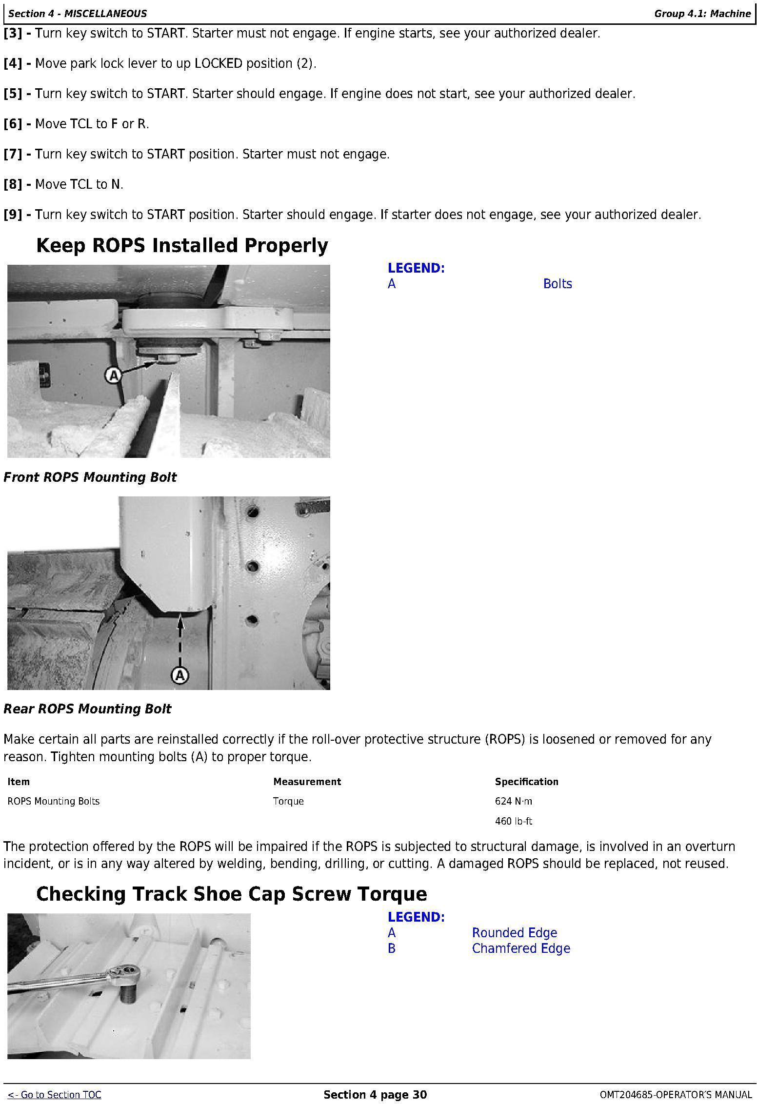 OMT204685 - John Deere 450J, 550J, and 650J Crawler Dozer (S.N. before 159986) Operators Manual - 3