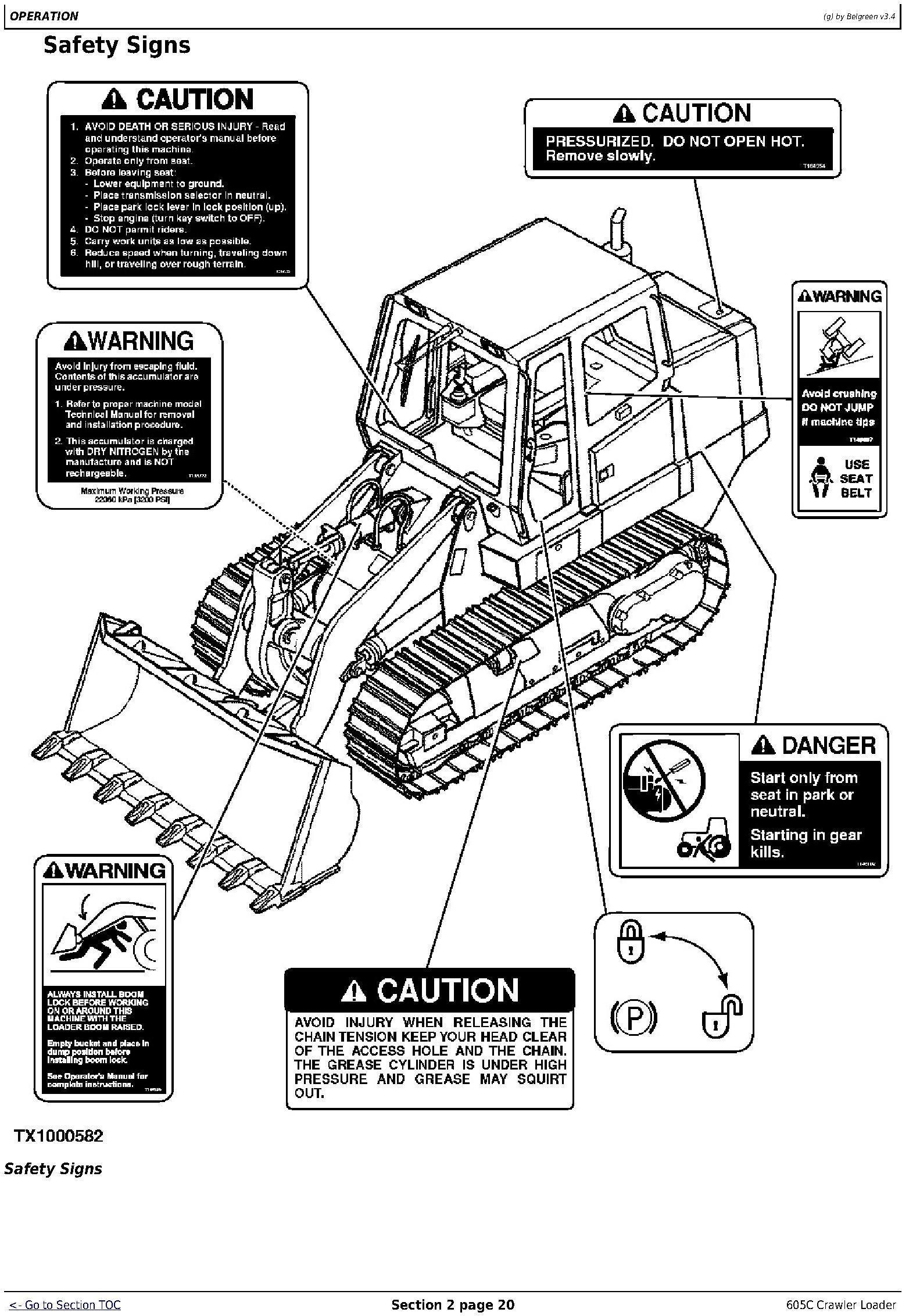 OMT217598 - John Deere 605C Crawler Loader Operators Manual - 1