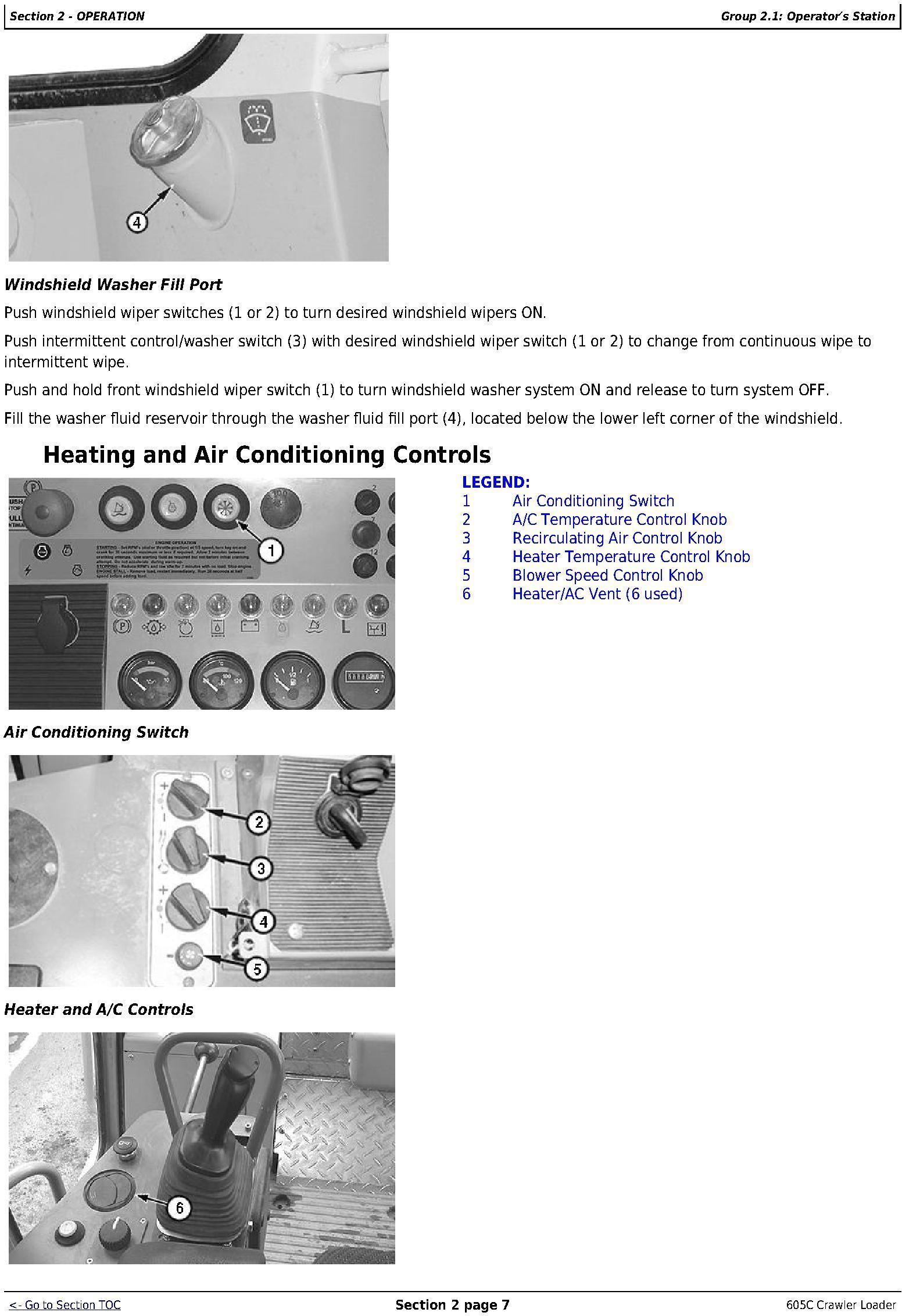 OMT217598 - John Deere 605C Crawler Loader Operators Manual - 2