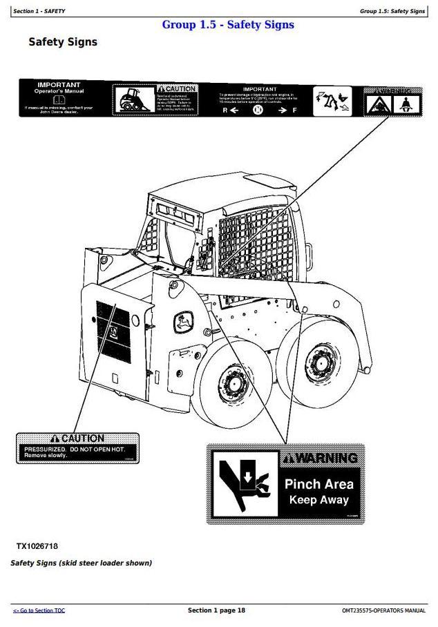 OMT235575 - John Deere 313, 315 Skeed Steer Loader, CT315 Compact Track Loader Operator's Manual - 3