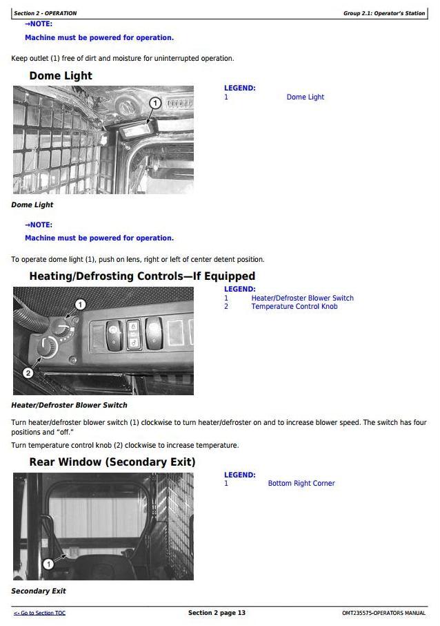 OMT235575 - John Deere 313, 315 Skeed Steer Loader, CT315 Compact Track Loader Operator's Manual - 1