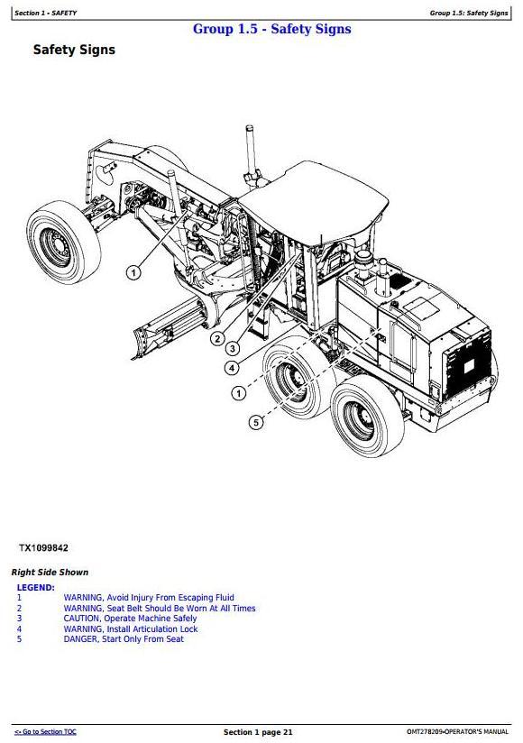 OMT278209 - John Deere 870G, 870GP, 872G, 872GP (SN. 634754-) Motor Grader Operator's Manual - 3