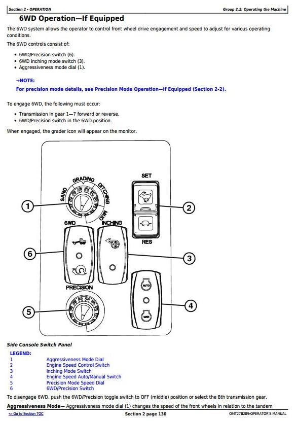 OMT278209 - John Deere 870G, 870GP, 872G, 872GP (SN. 634754-) Motor Grader Operator's Manual - 2