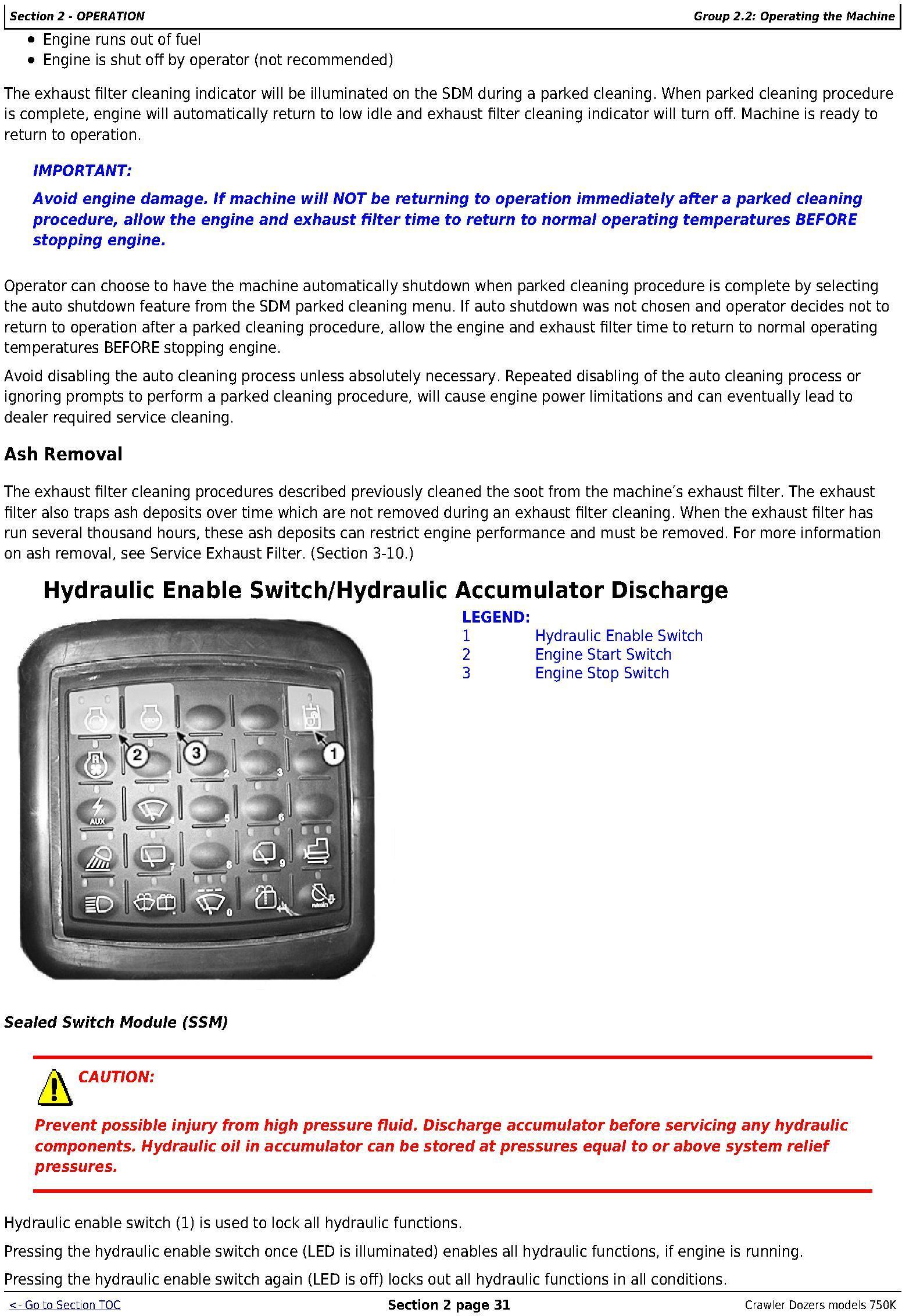 OMT298956 - John Deere 750K Crawler Dozer (PIN: 1T0750KX_ _E216966-) Operators Manual - 3