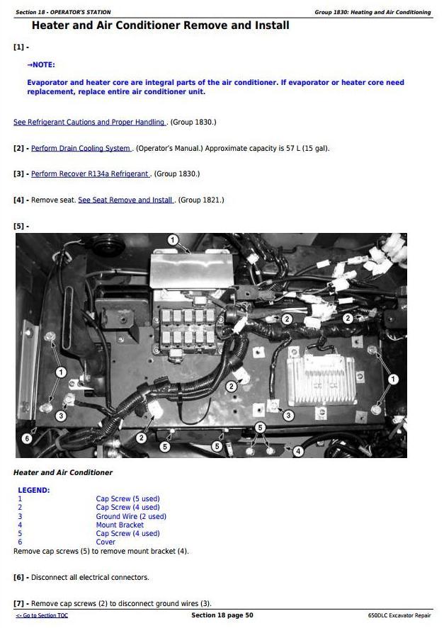 TM10010 - John Deere 650DLC Excavator Service Repair Technical Manual - 1