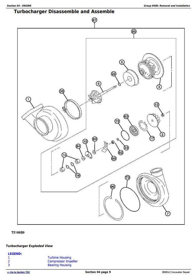 TM10011 - John Deere 850DLC Excavator Diagnostic, Operation and Test Service Manual (TM10009) - 1
