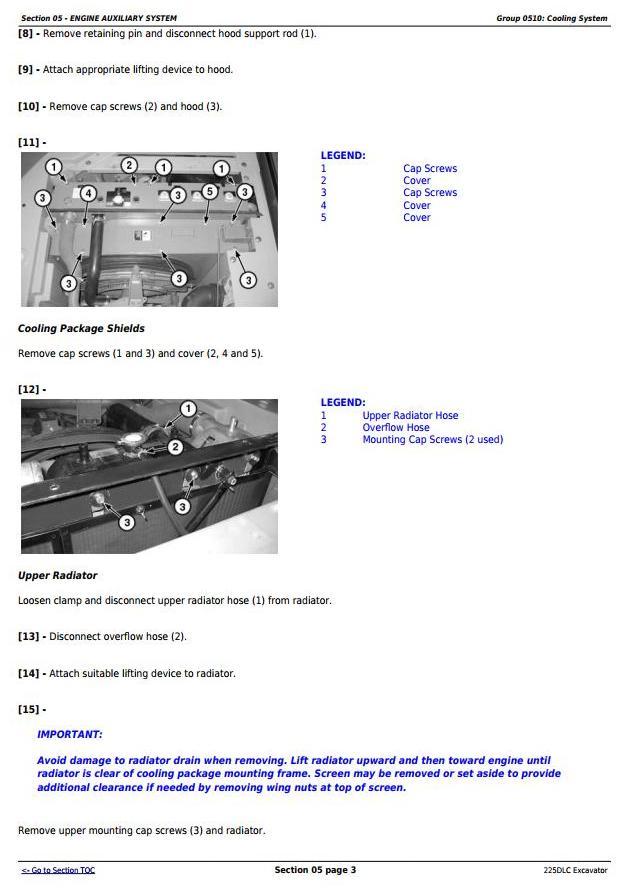 TM10085 - John Deere 225DLC Excavator Service Repair Technical Manual - 1
