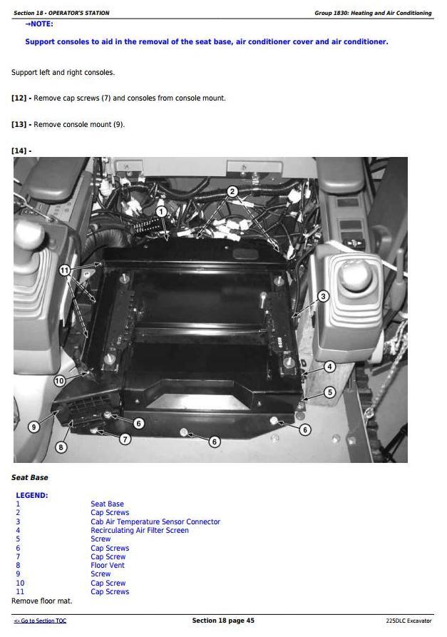 TM10085 - John Deere 225DLC Excavator Service Repair Technical Manual - 2