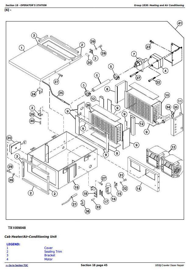 TM10114 - John Deere 1050J Crawler Dozer Service Repair Technical Manual - 2