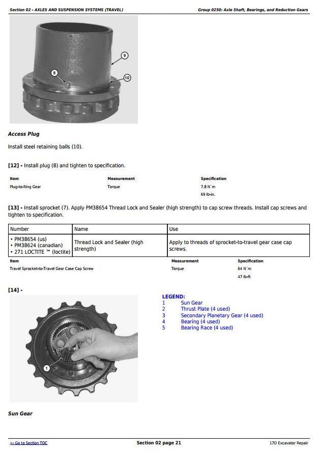 TM10259 - John Deere 17D Compact Excavator Service Repair Technical Manual - 2