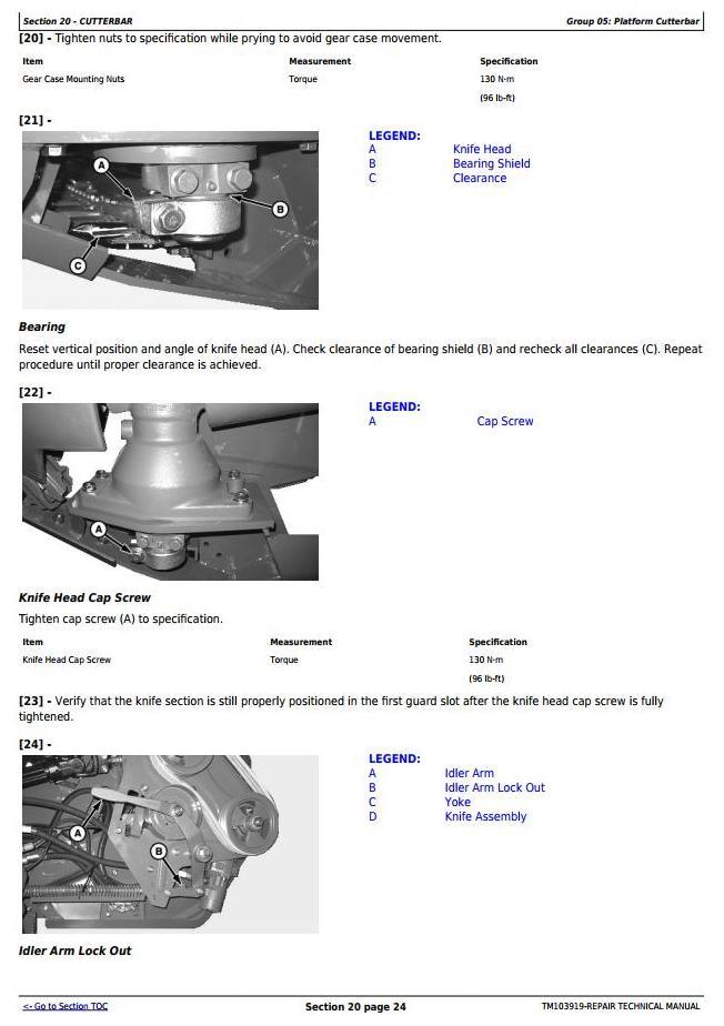 TM103919 - John Deere 625D, 630D, 635D and 640D Draper Platform Service Repair Technical Manual - 1