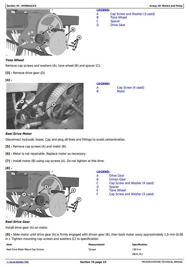 TM103919 - John Deere 625D, 630D, 635D and 640D Draper Platform Service Repair Technical Manual - 3