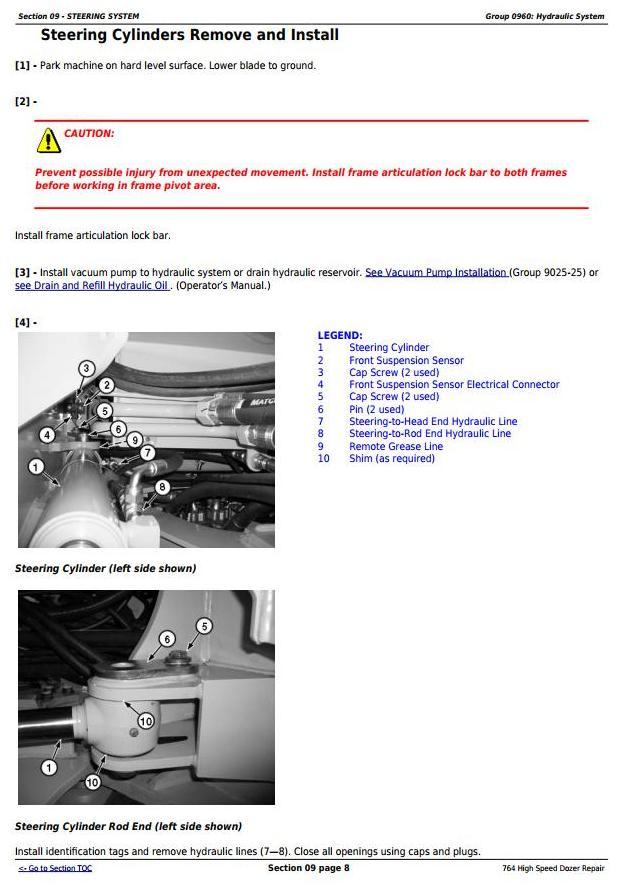 TM11193 - John Deere 764 High Speed Crawler Dozer Service Repair Technical Manual - 2