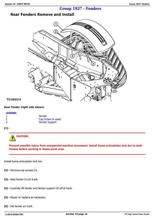 TM11193 - John Deere 764 High Speed Crawler Dozer Service Repair Technical Manual - 3
