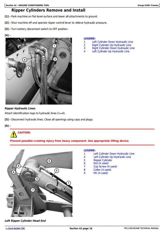 TM11205 - John Deere 670G, 670GP, 672G, 672GP (SN.-634753) Motor Grader Service Repair Technical Manual - 3