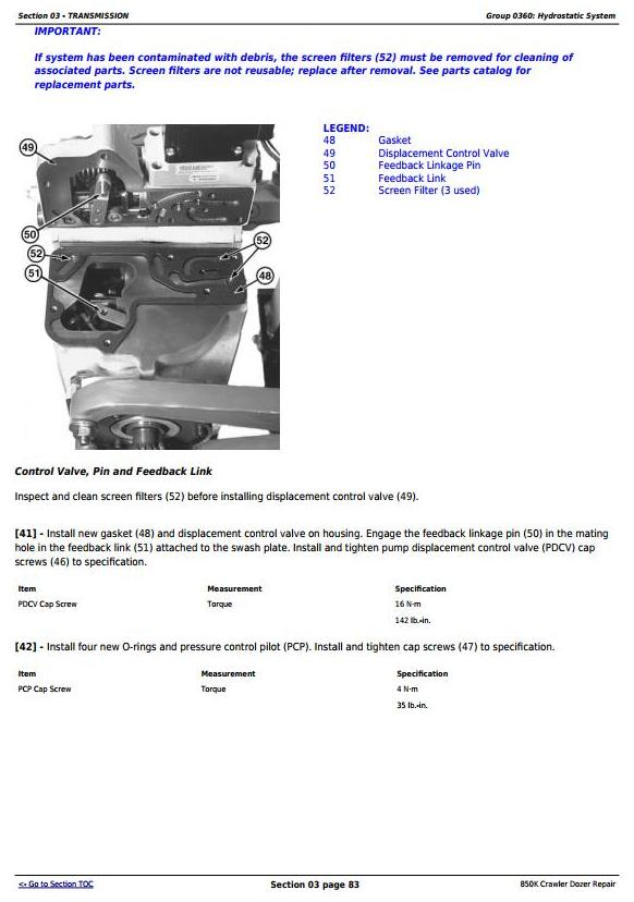 TM12046 - John Deere 850K Crawler Dozer (PIN: 1T0850KX_ _E178122—271265) Service Repair Manual - 2