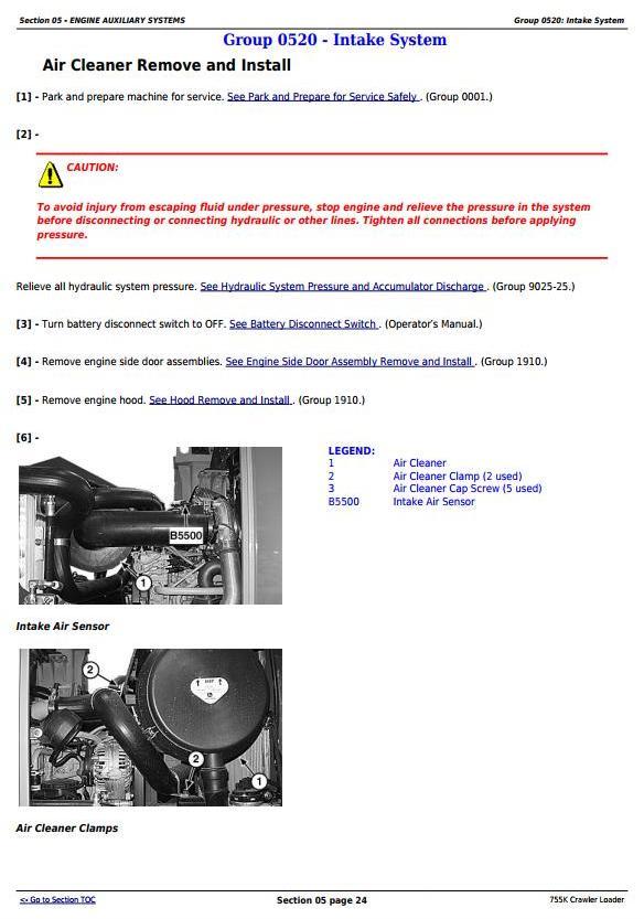 TM12052 - John Deere 755K Crawler Loader Service Repair Technical Manual - 1