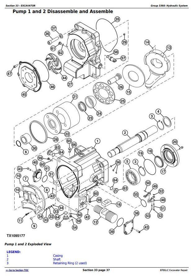 TM12182 - John Deere 870GLC Excavator with 6WG1XZSA-02 Engine Service Repair Technical Manual - 2