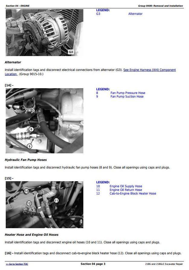 TM12333 - John Deere 210G, 210GLC (PIN: 1FF210GX__E520001-) iT4/S3B Excavator Service Repair Manual - 1